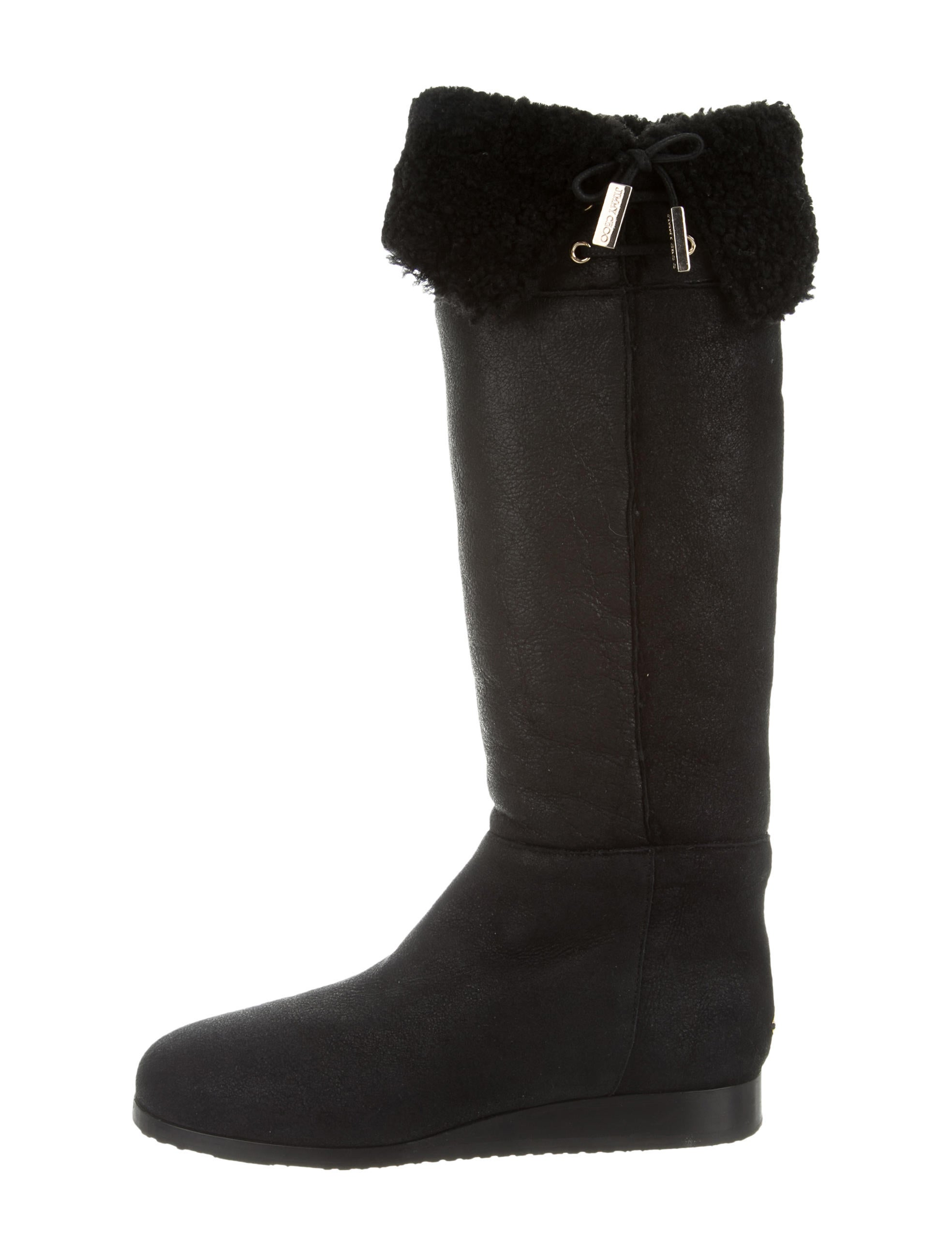 jimmy choo shearling knee high boots shoes jim60588