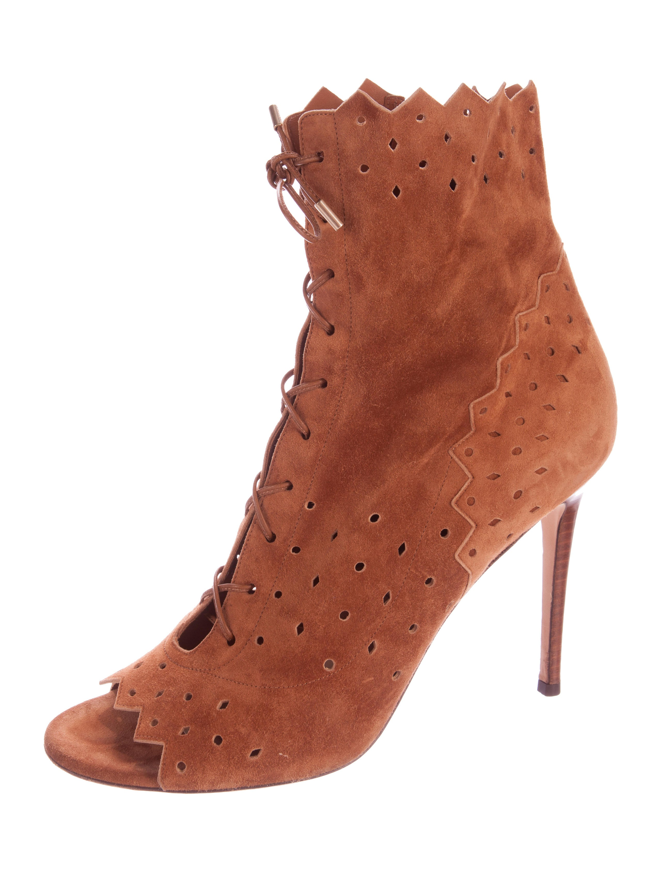 jimmy choo suede peep toe boots shoes jim60661 the
