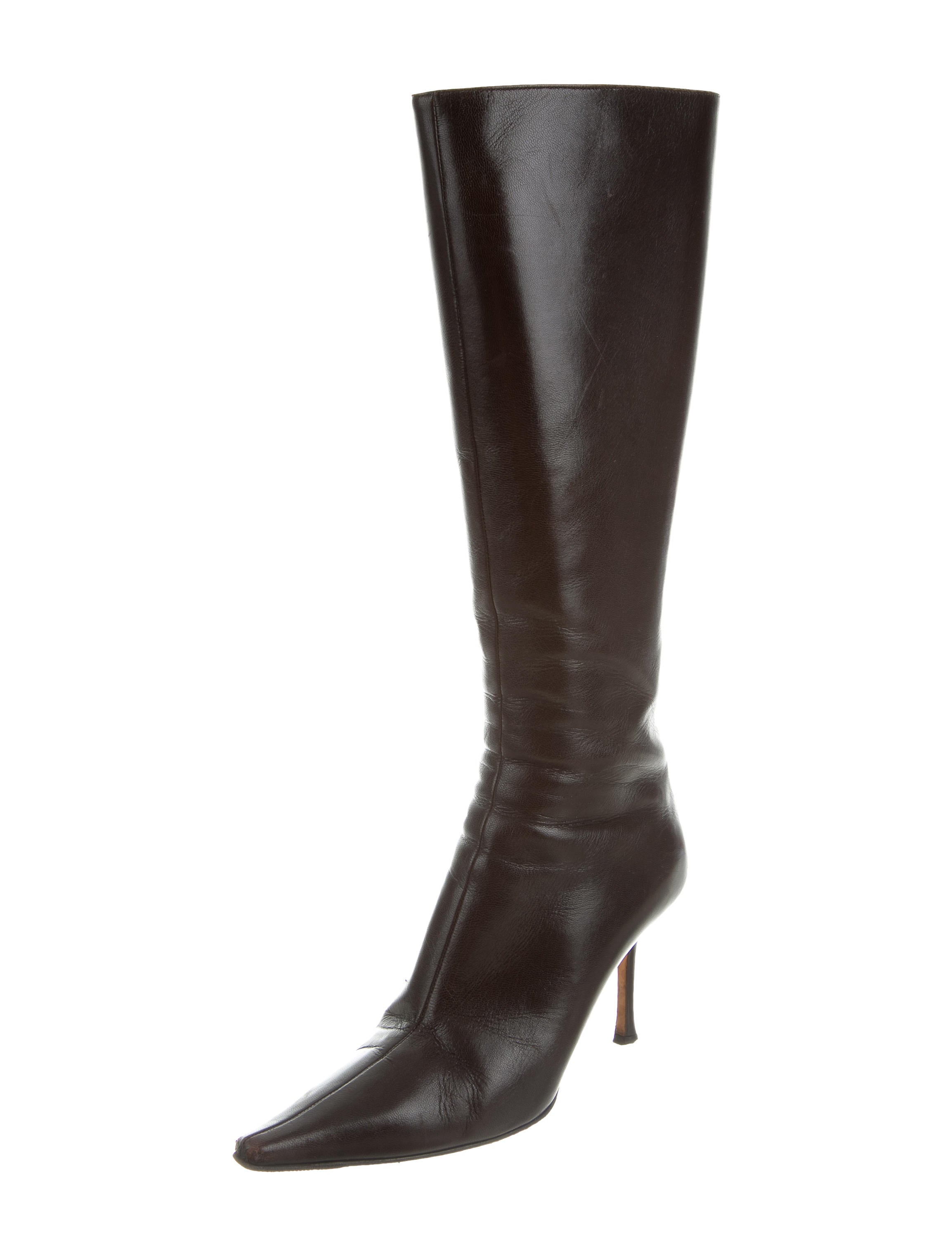 jimmy choo pointed toe knee high boots shoes jim60786