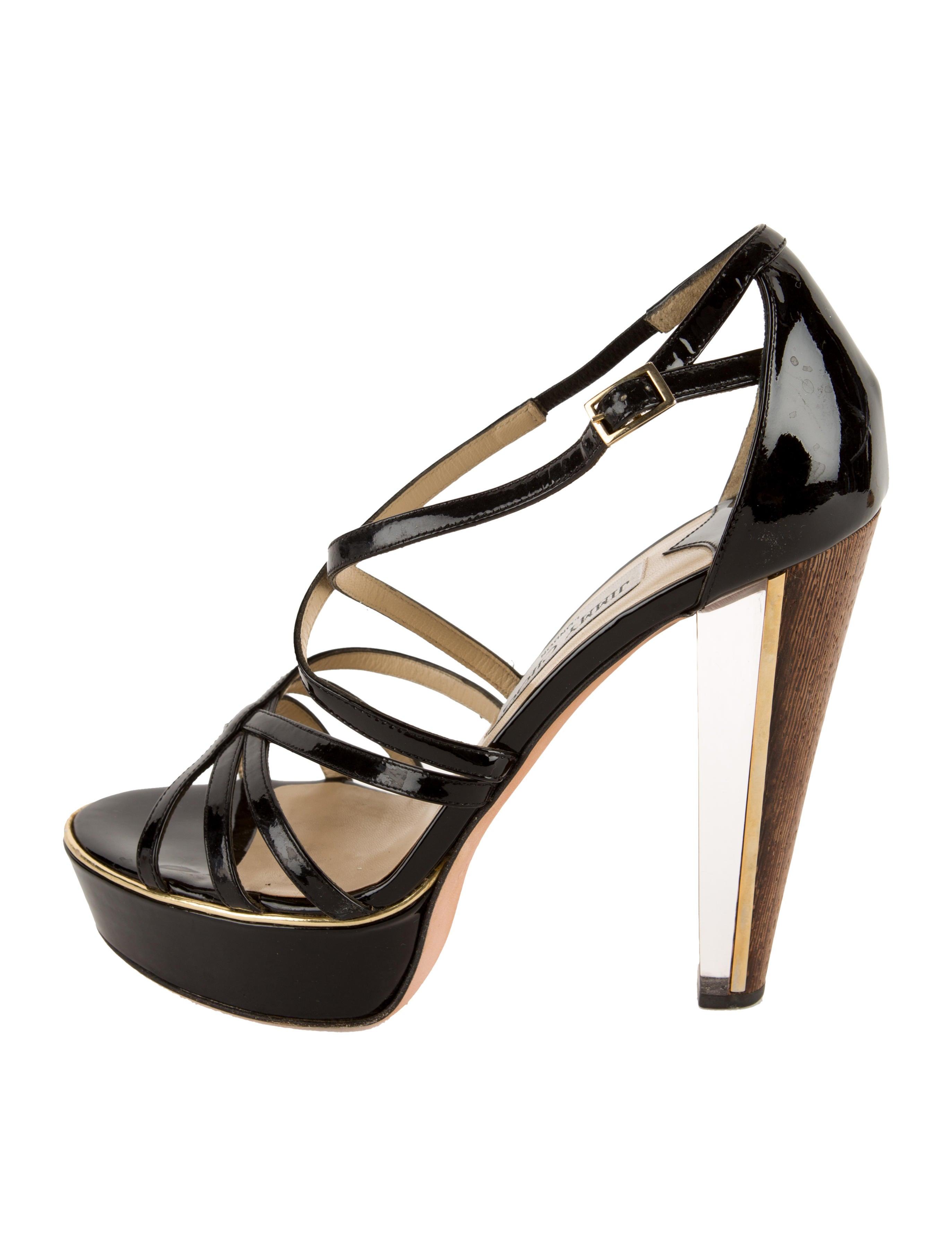 jimmy choo patent leather platform sandals shoes