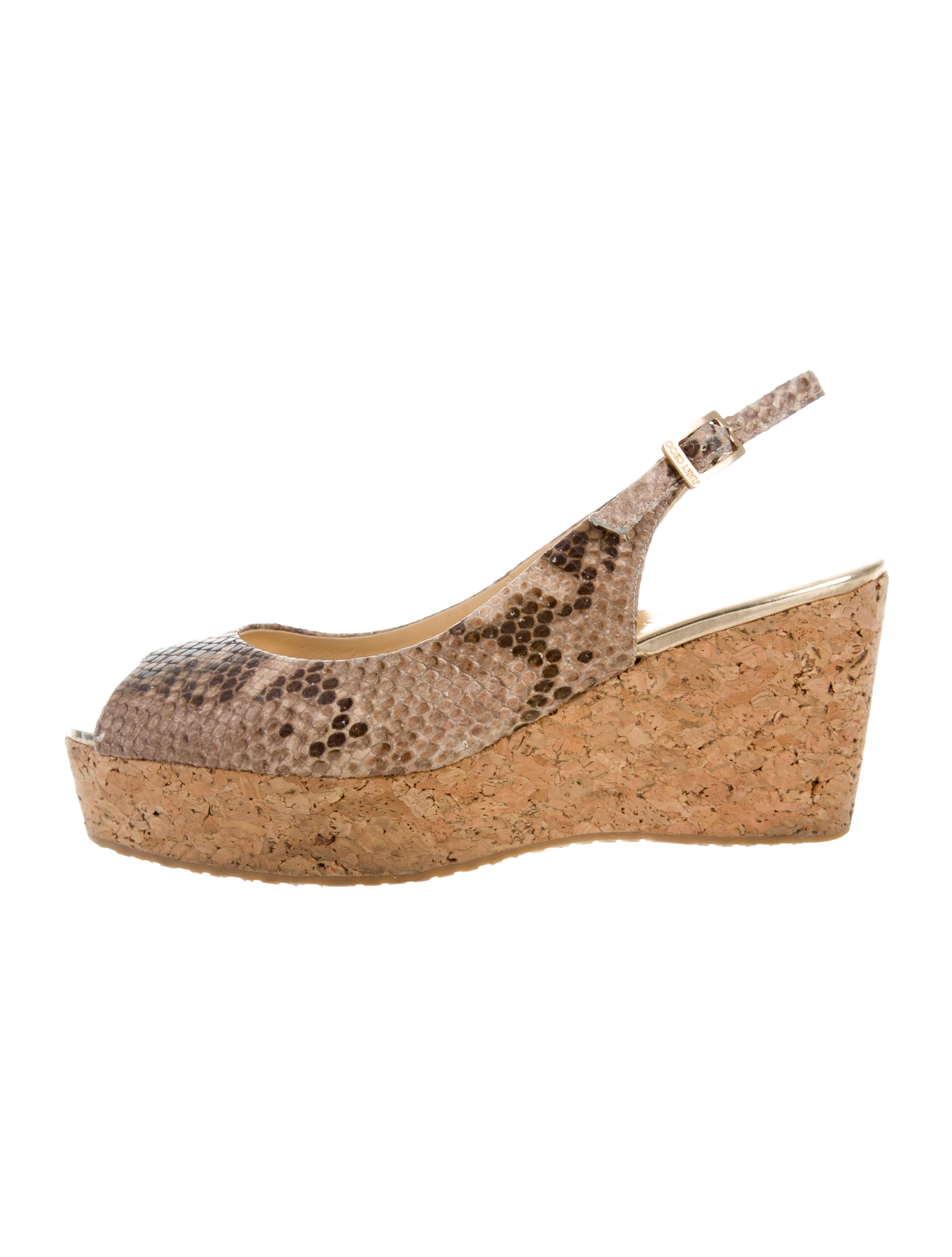 jimmy choo snakeskin wedge sandals shoes jim60892