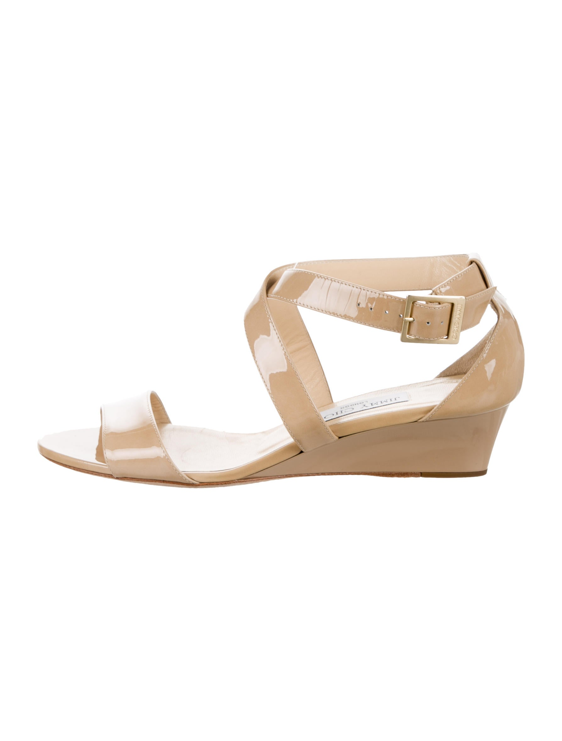 jimmy choo patent leather wedge sandals shoes jim61001