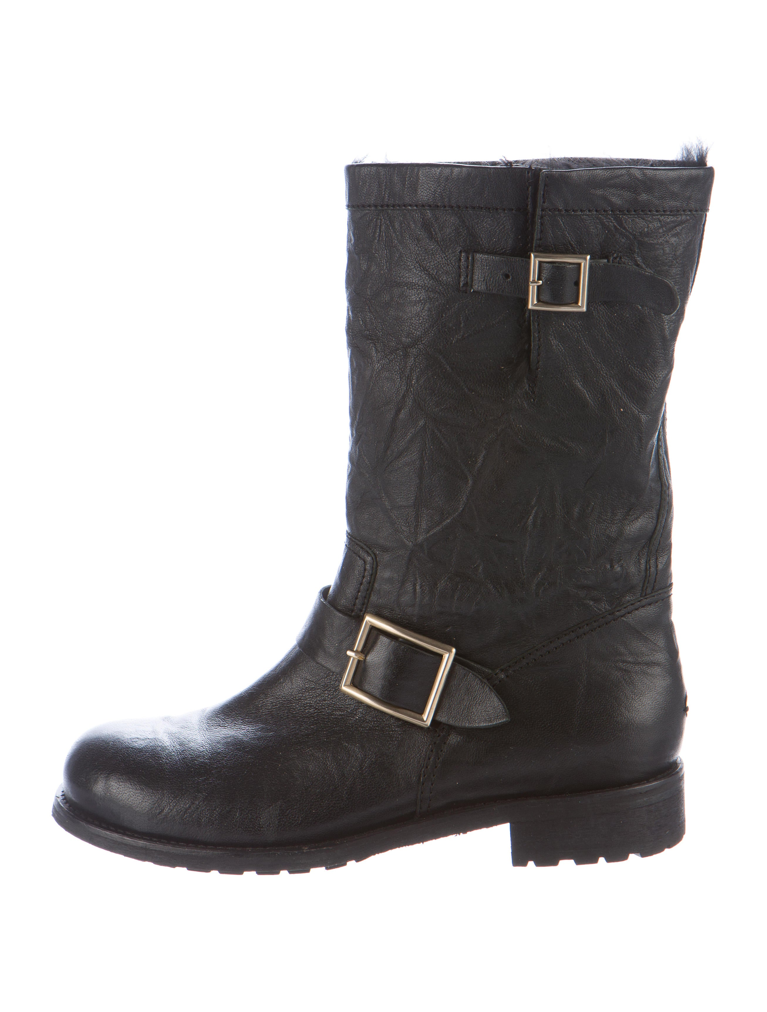 jimmy choo leather moto boots shoes jim61282 the