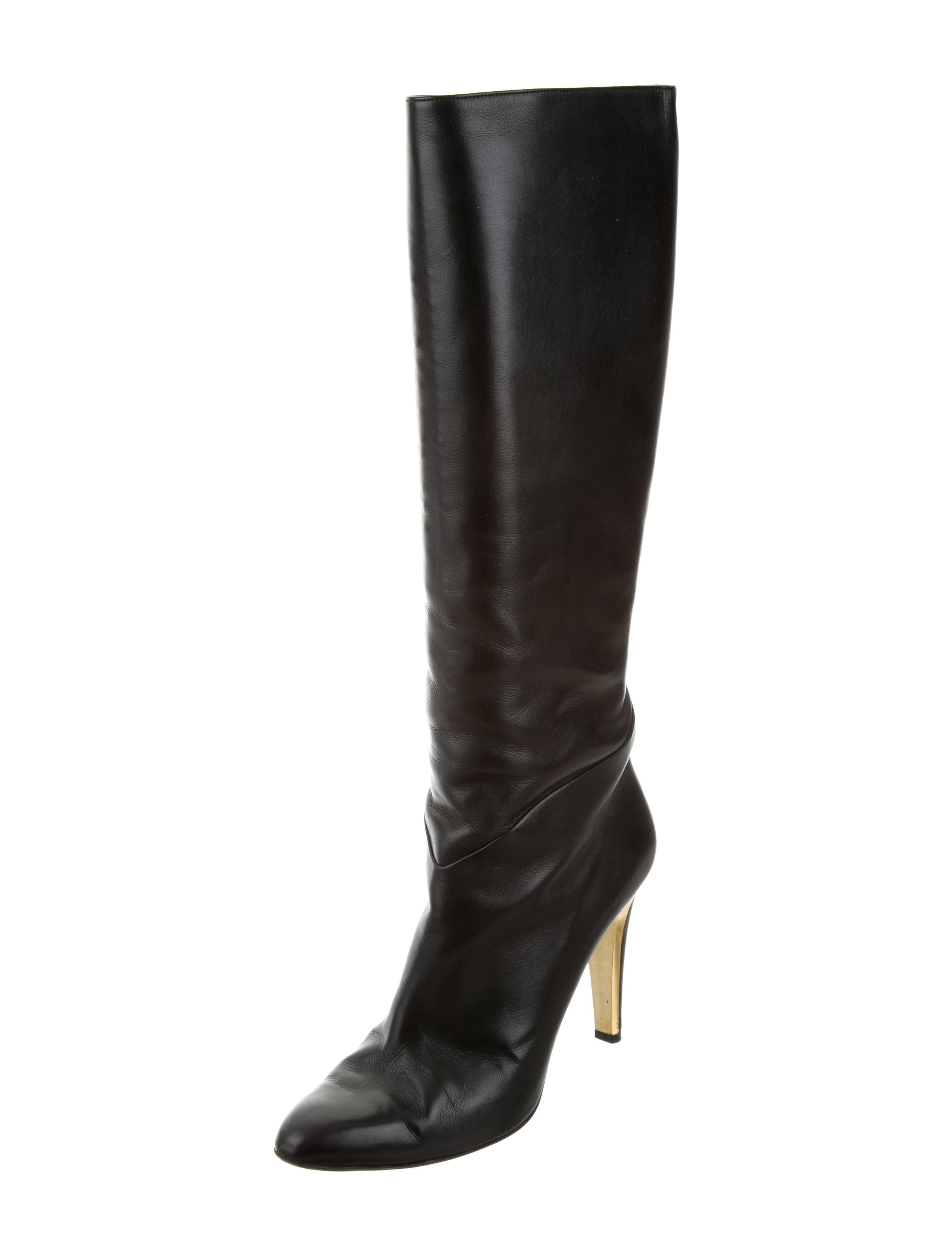 jimmy choo pointed toe knee high boots shoes jim61449