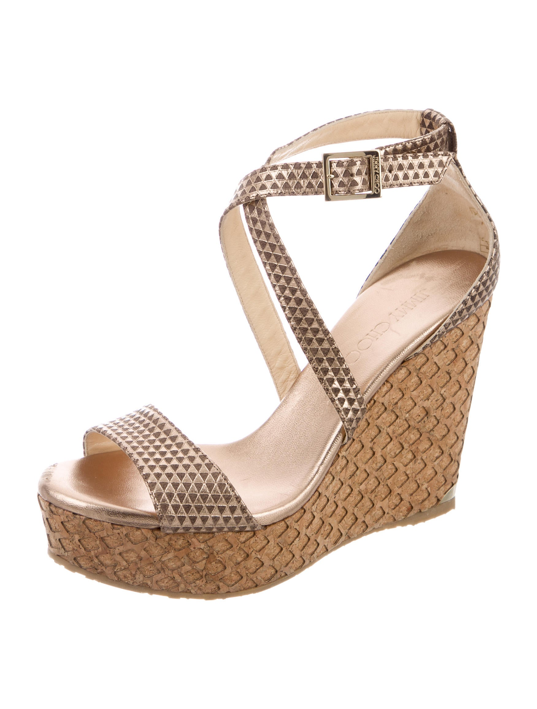 jimmy choo metallic wedge sandals shoes jim61617 the