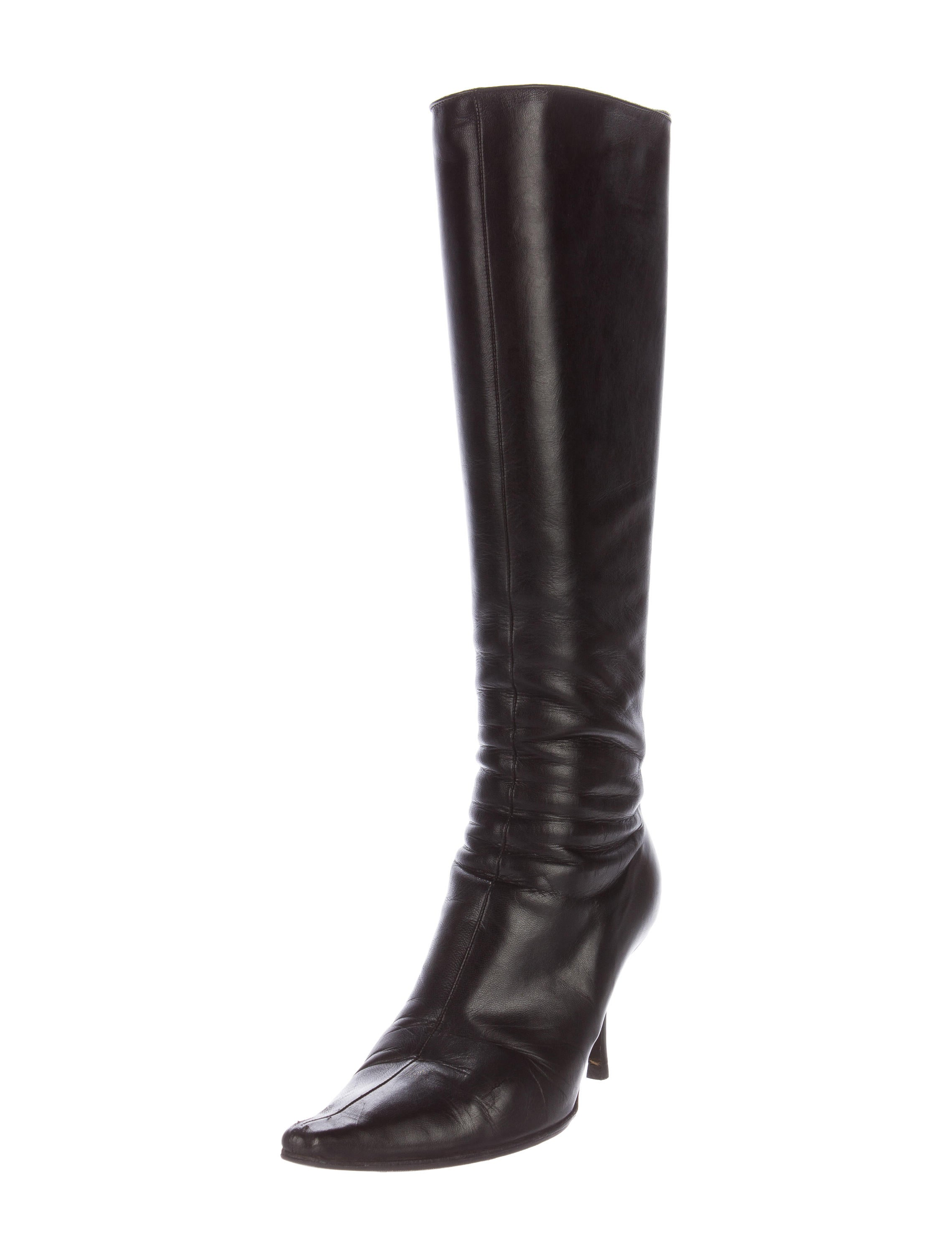 jimmy choo leather knee high boots shoes jim61665