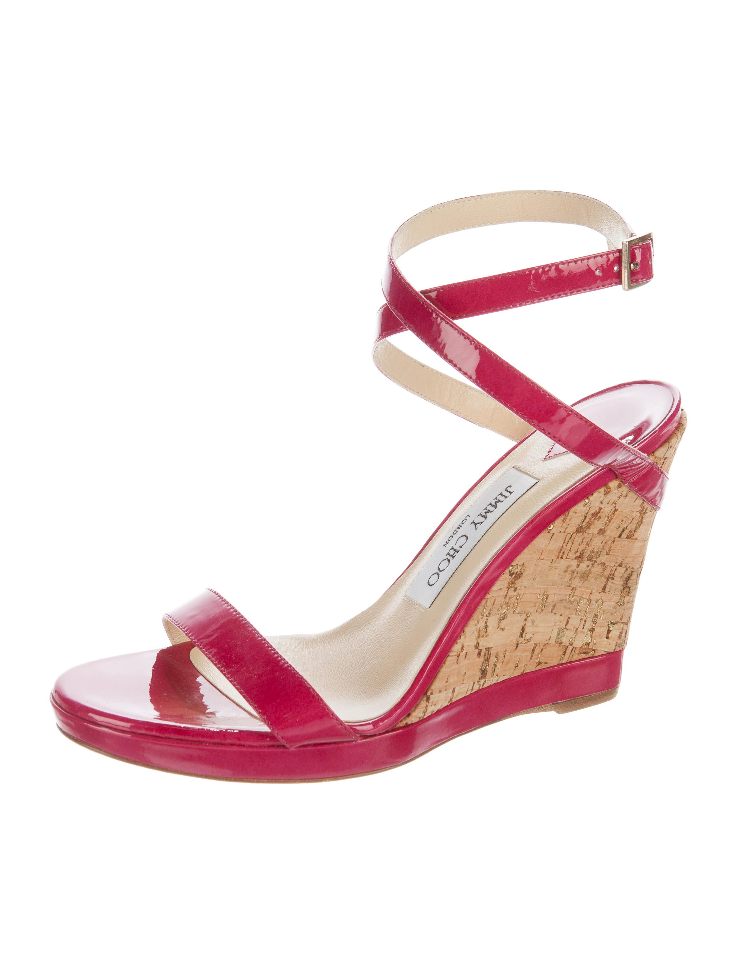 jimmy choo patent leather wedge sandals shoes jim62076