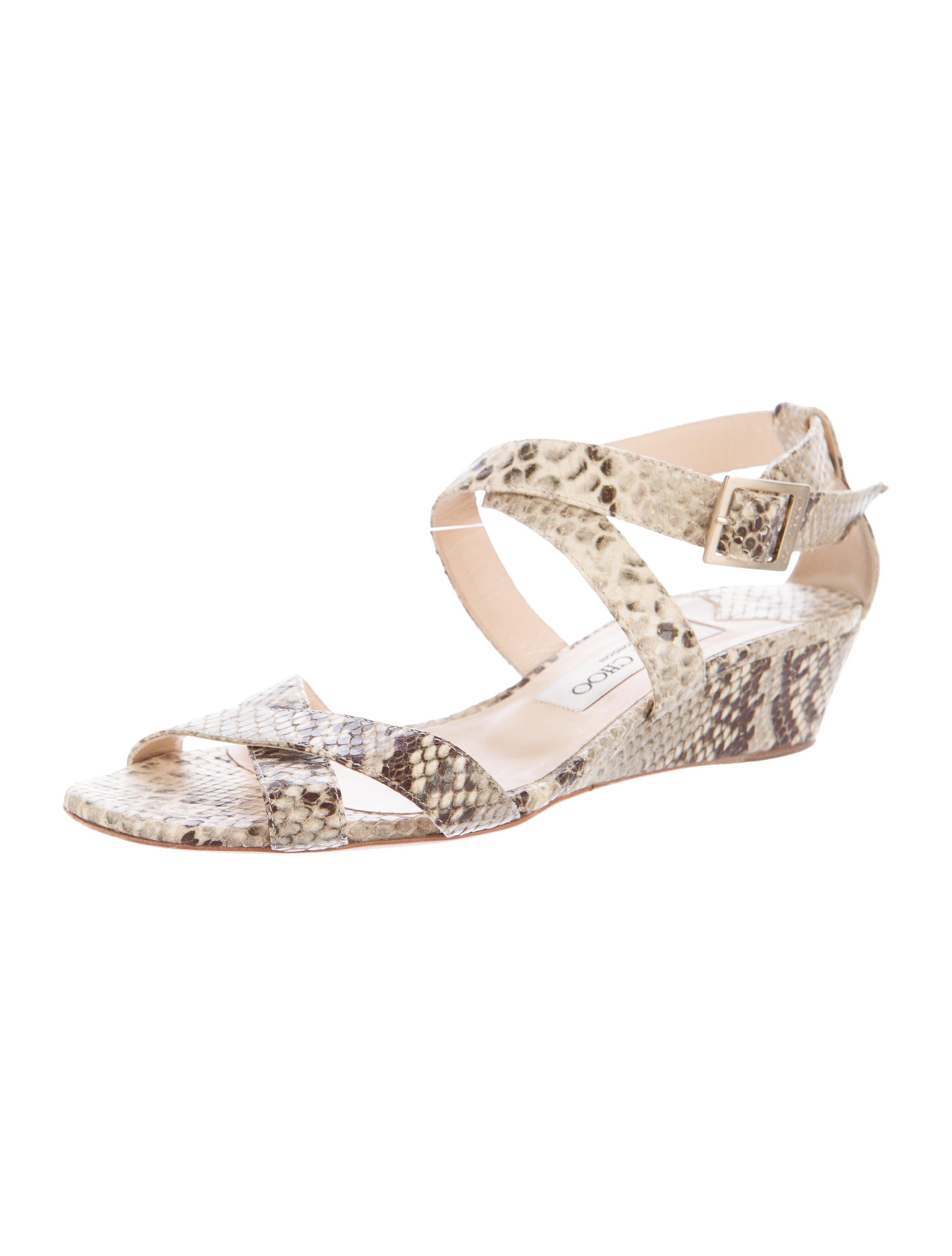 jimmy choo snakeskin wedge sandals shoes jim62150
