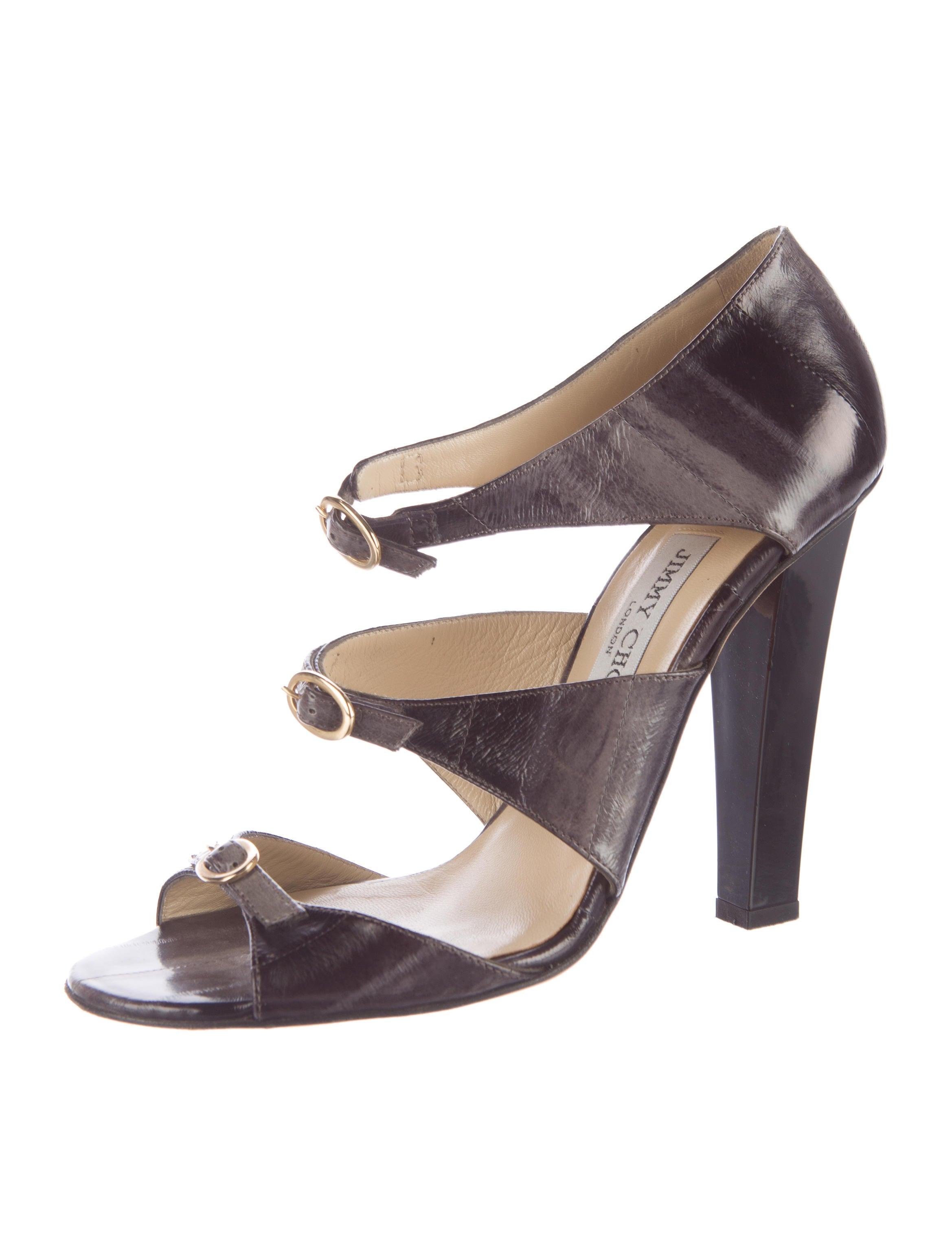 Jimmy Choo Eelskin Buckled Sandals cheap 2015 iX5Ggp0B4k