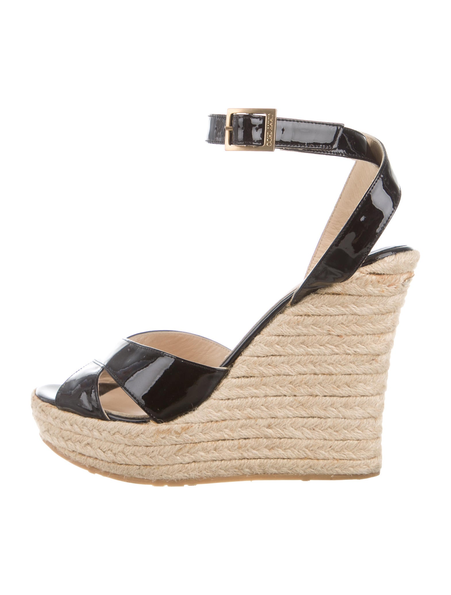 jimmy choo patent leather wedge sandals shoes jim62333