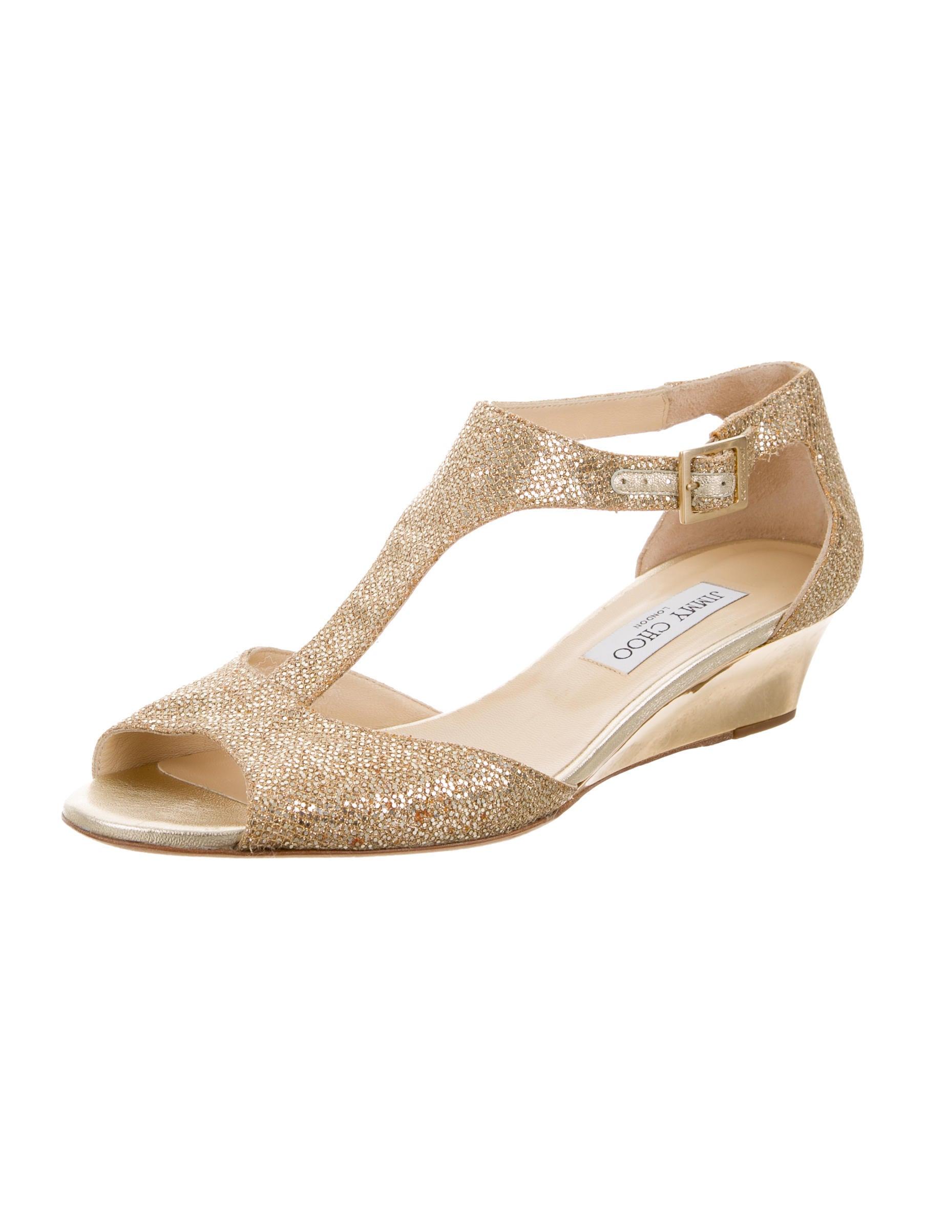 jimmy choo glitter wedge sandals shoes jim62334 the