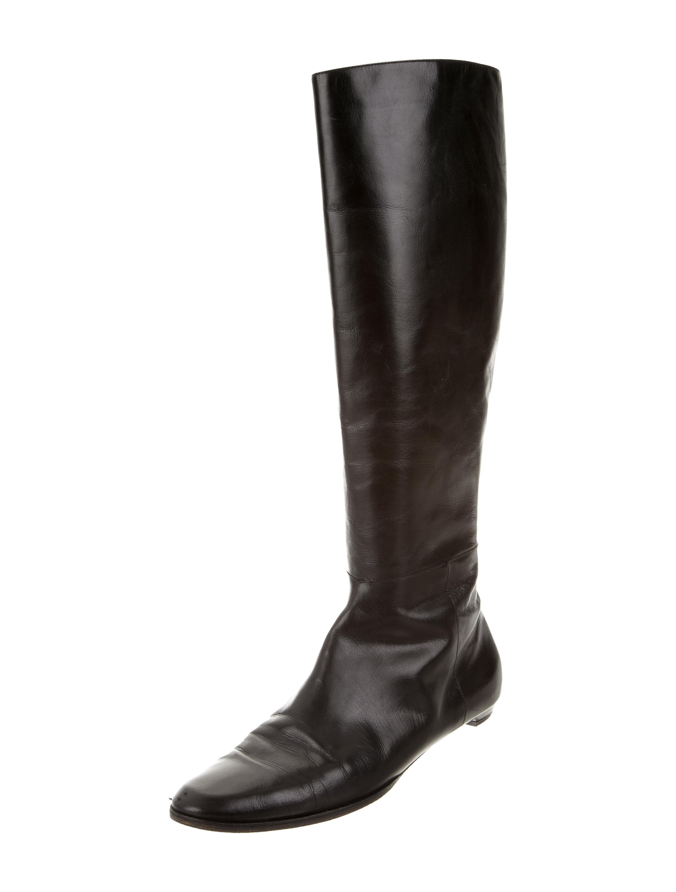 jimmy choo leather knee high boots shoes jim63995