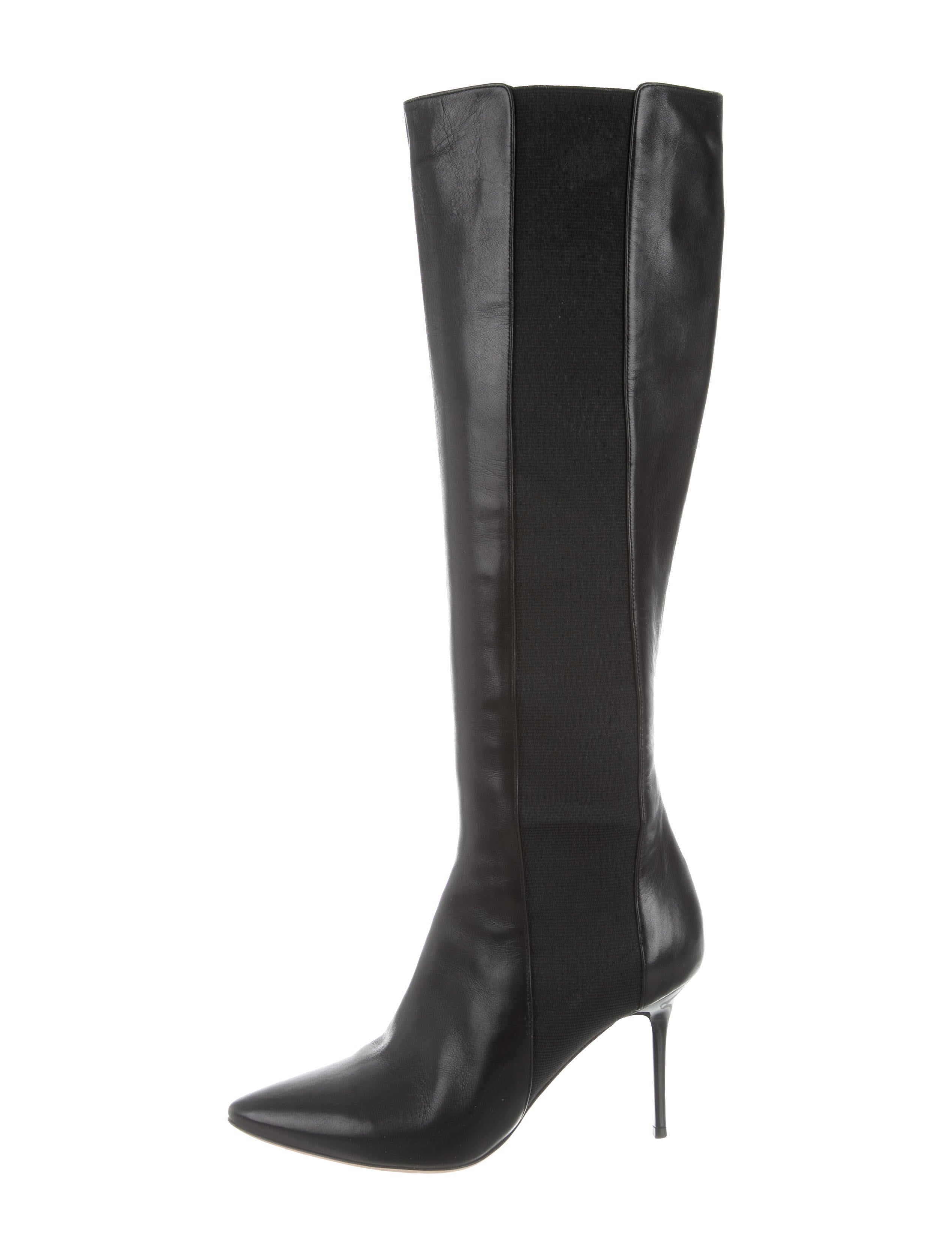 jimmy choo pointed toe knee high boots shoes jim64007