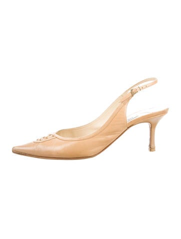 Jimmy Choo Pointed-Toe Leather Pumps None