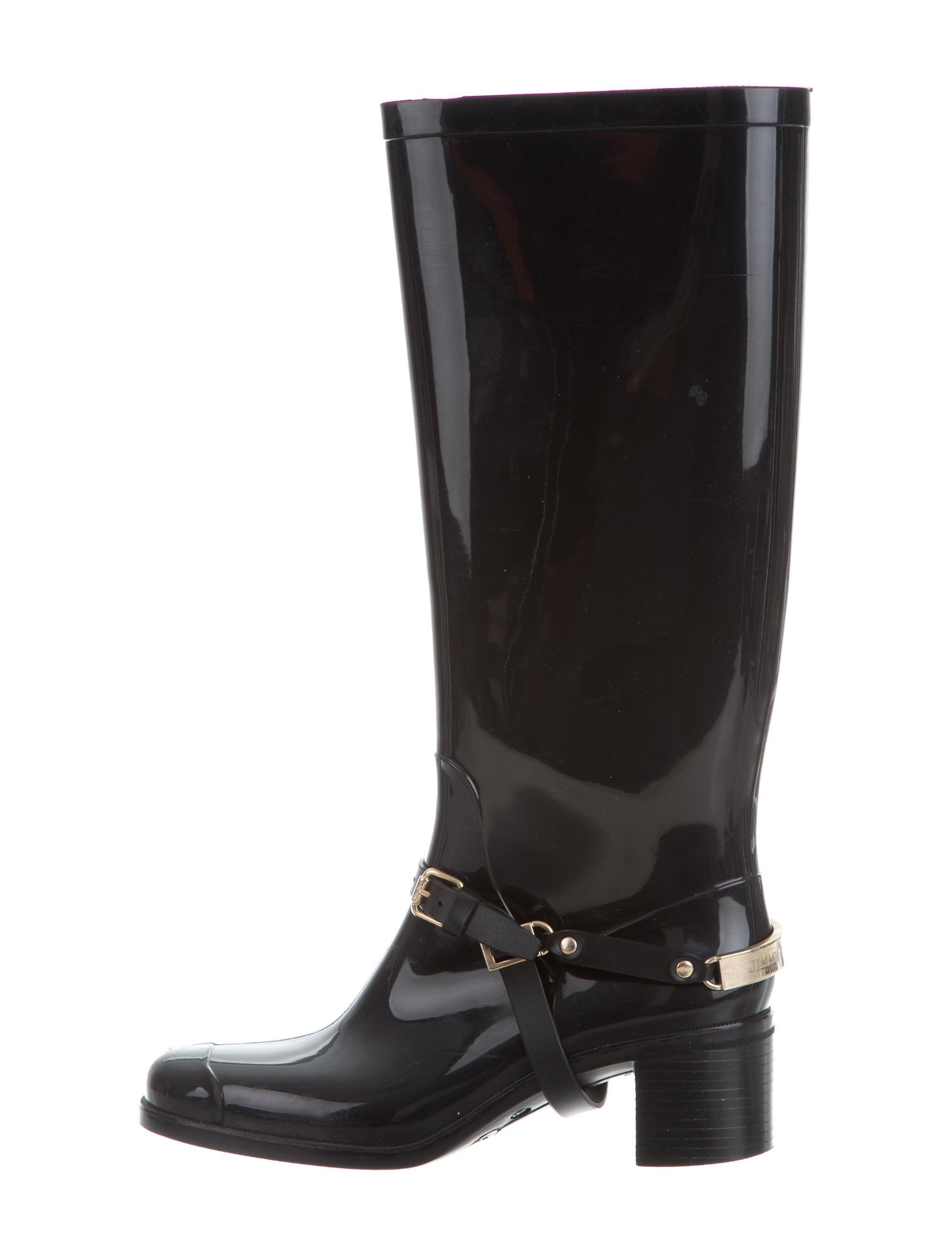 Jimmy Choo Logo Knee-High Rain Boots clearance real cykKe3g