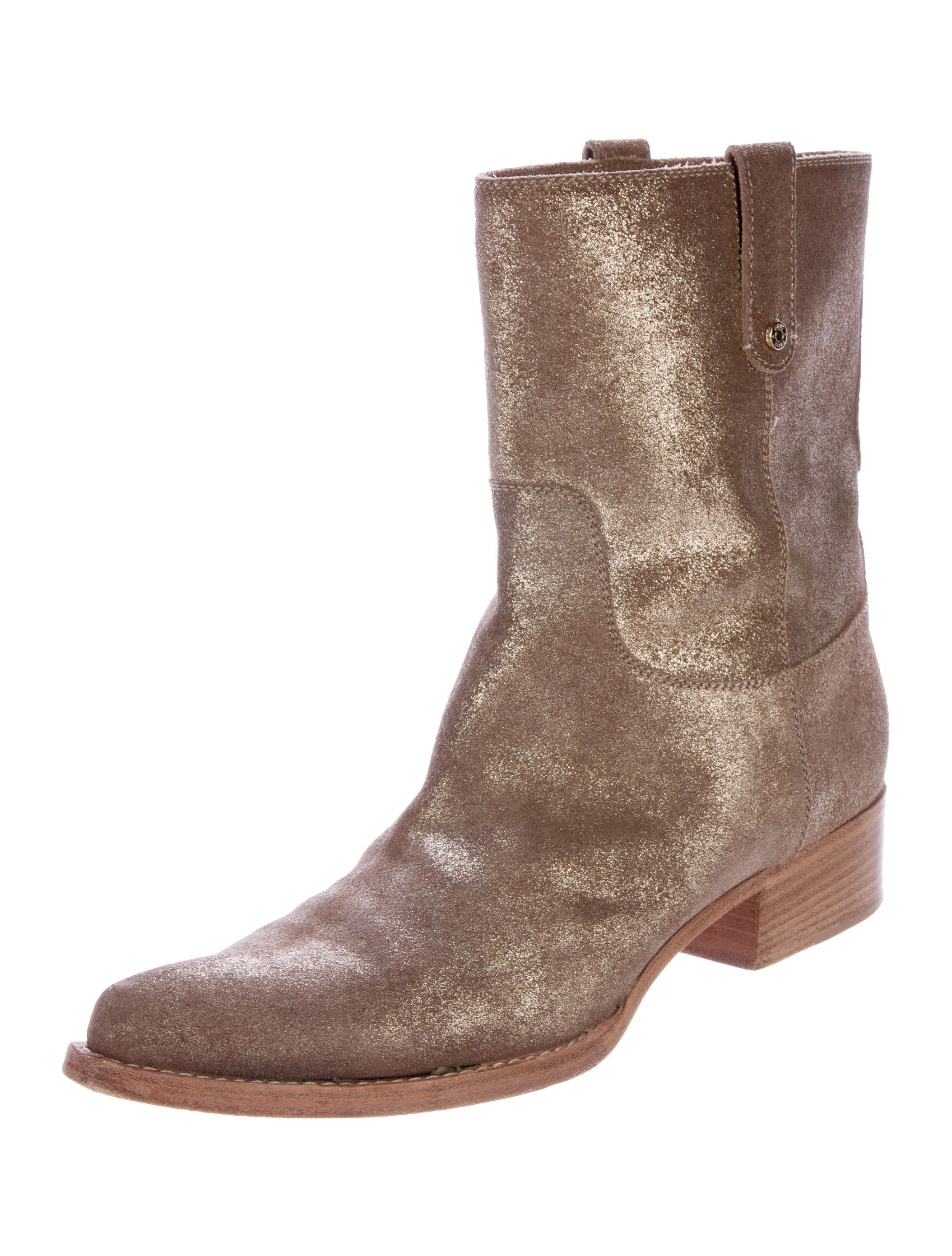 Metallic Leather Boots : Jimmy choo metallic leather ankle boots shoes jim