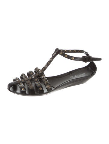 Jimmy Choo Studded Jelly Sandals Shoes Jim66536 The