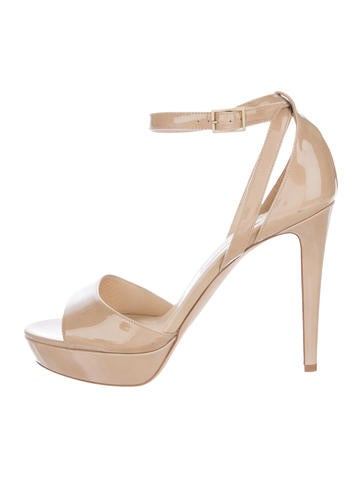 Jimmy Choo Kayden Patent Leather Sandals None