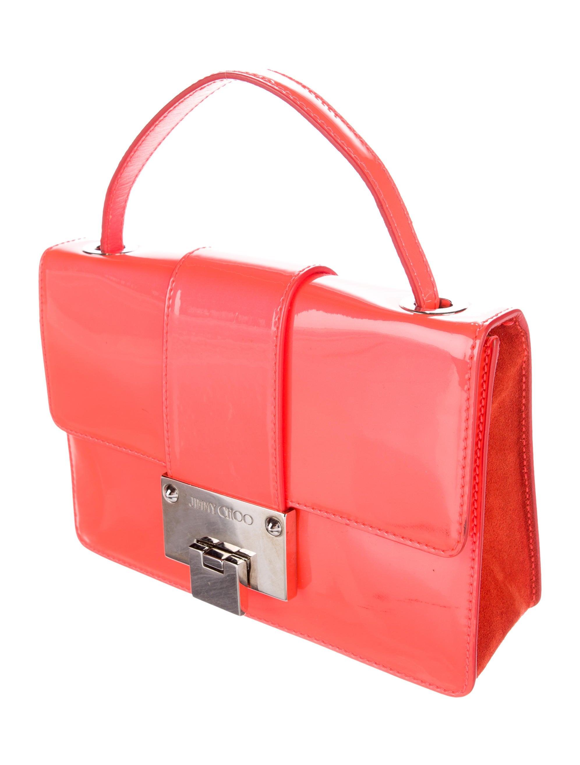 Jimmy Choo Patent Leather Rebel Crossbody Bag - Handbags ...