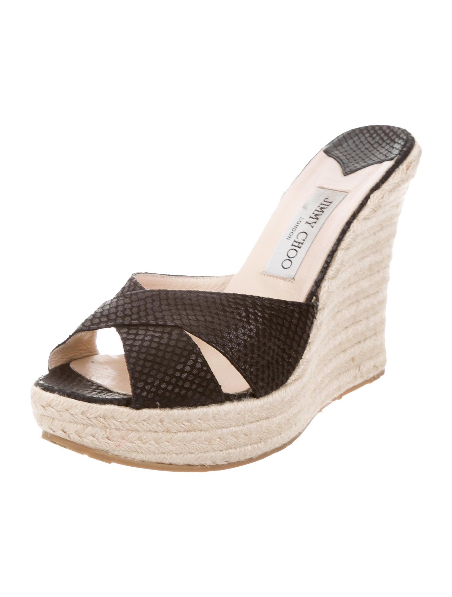 jimmy choo embossed platform wedges shoes jim69156