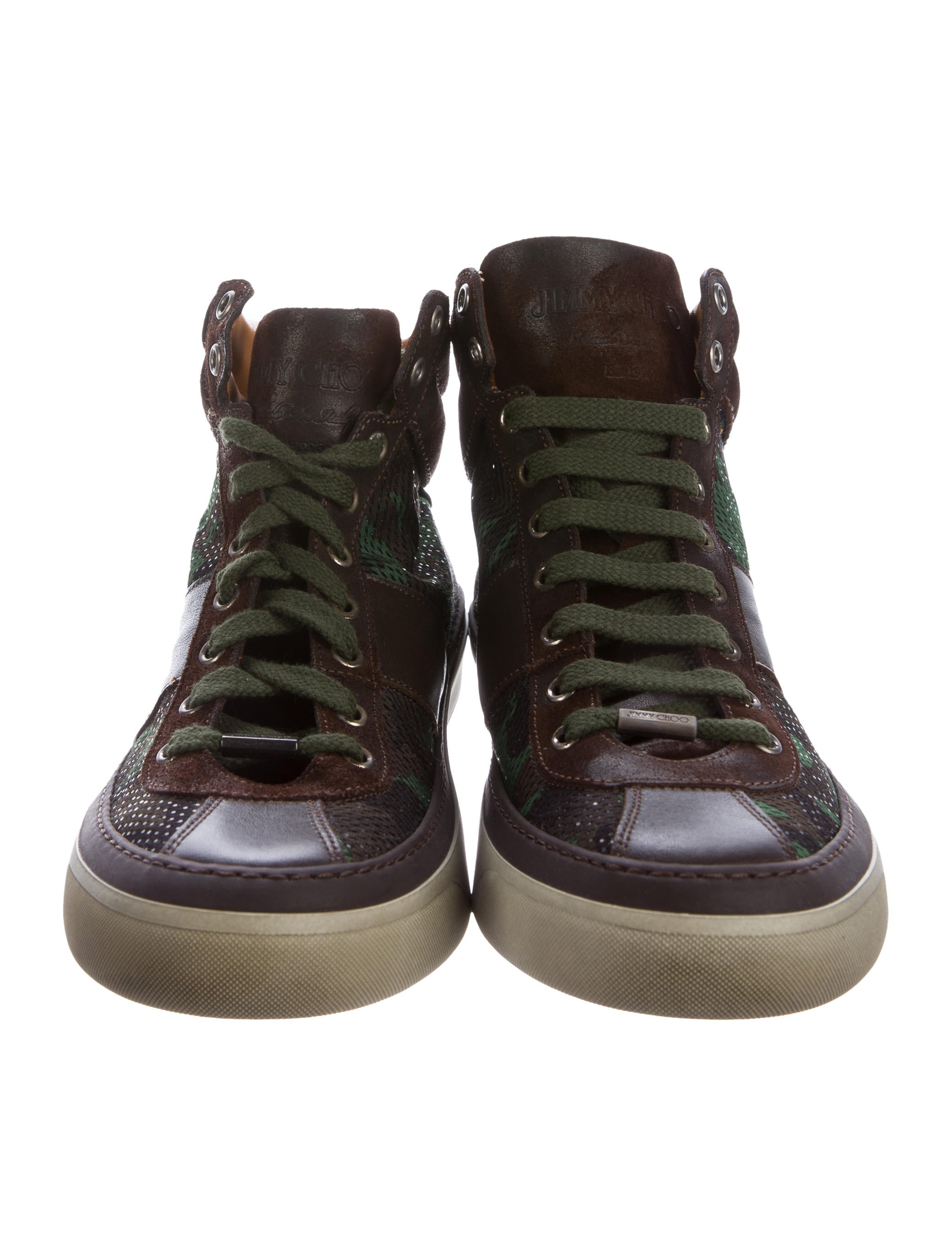 jimmy choo belgravia camouflage sneakers shoes jim69262 the realreal. Black Bedroom Furniture Sets. Home Design Ideas