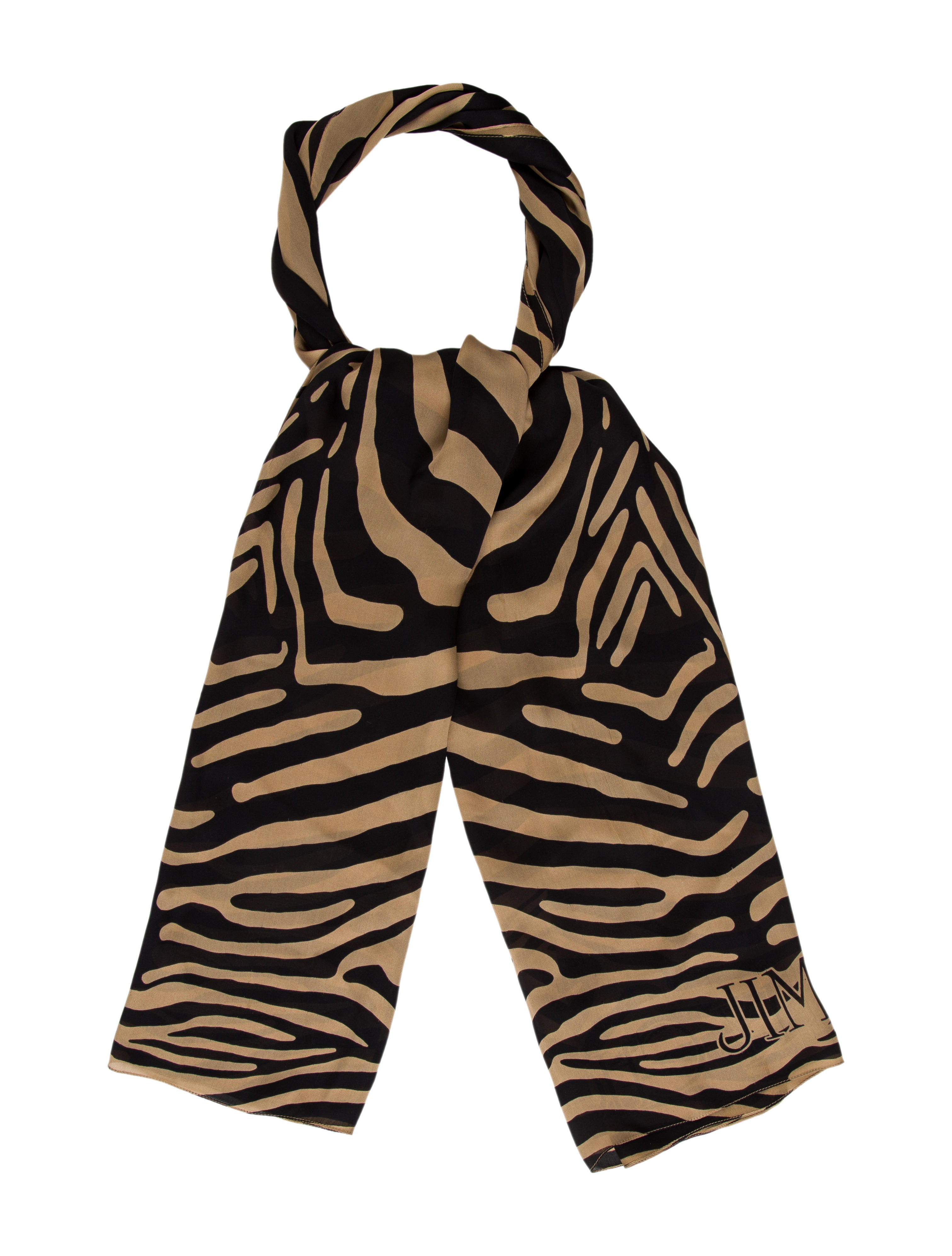jimmy choo printed silk scarf accessories jim69519