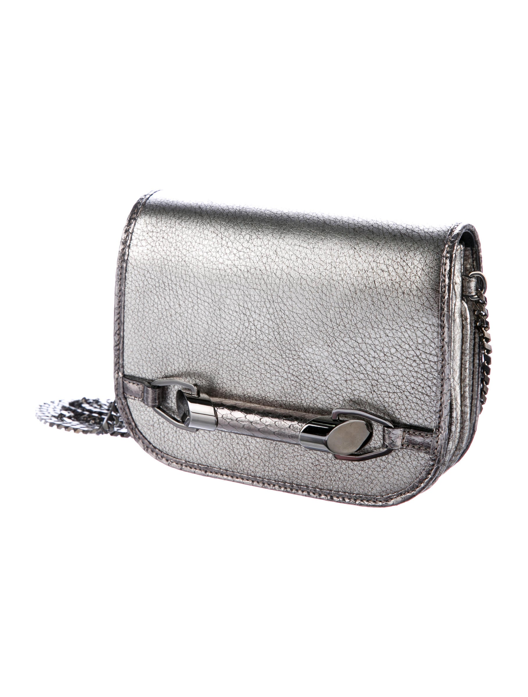 Jimmy Choo Embossed Metallic Crossbody Bag - Handbags ...
