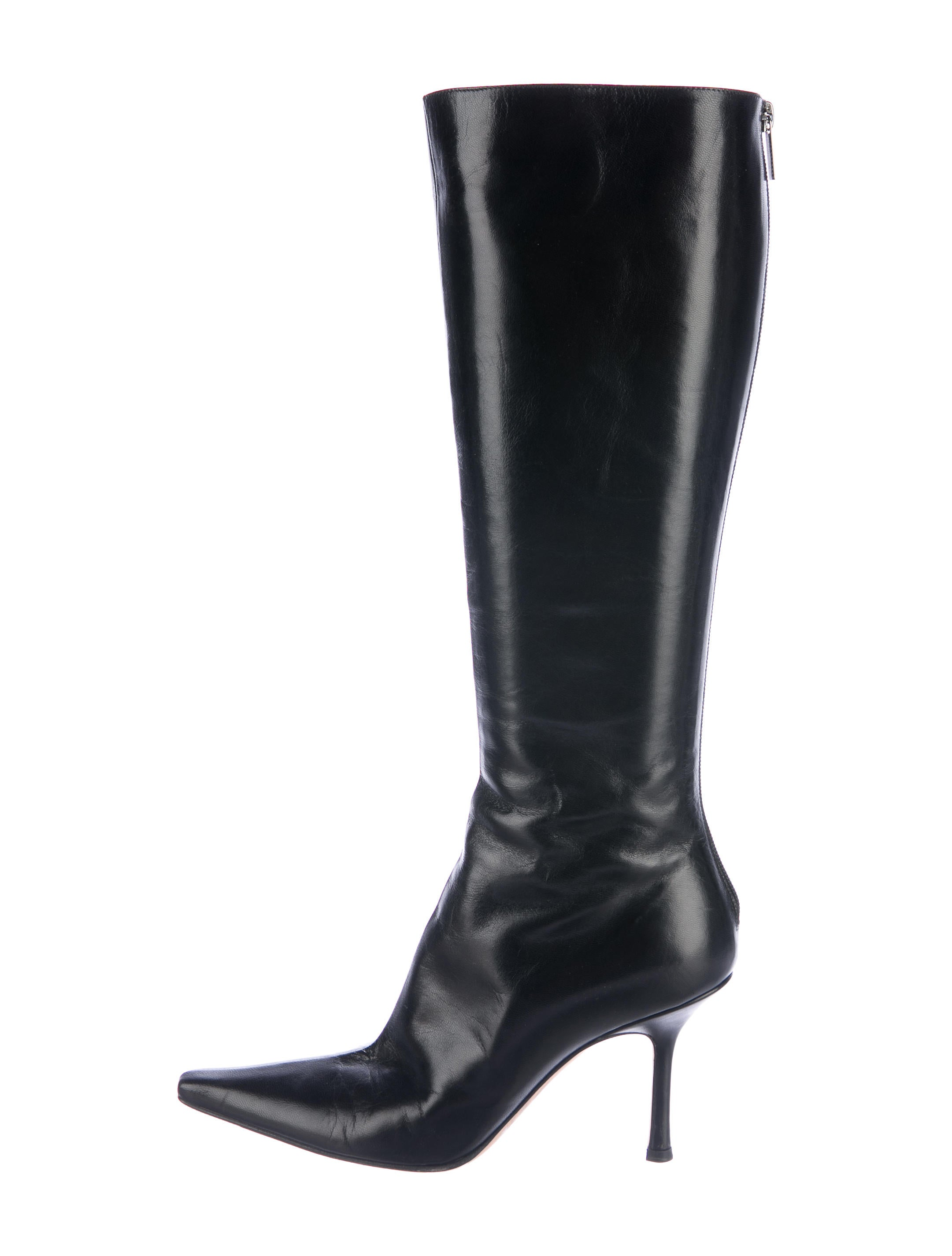 Jimmy Choo Leather Knee-High Boots - Shoes - JIM70054 ...