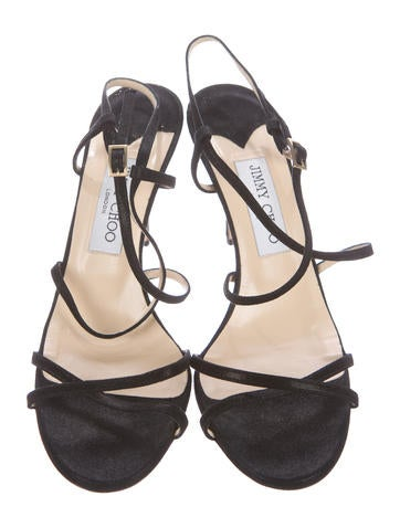 Black Suede Ankle Strap Shoes Size  And A Half