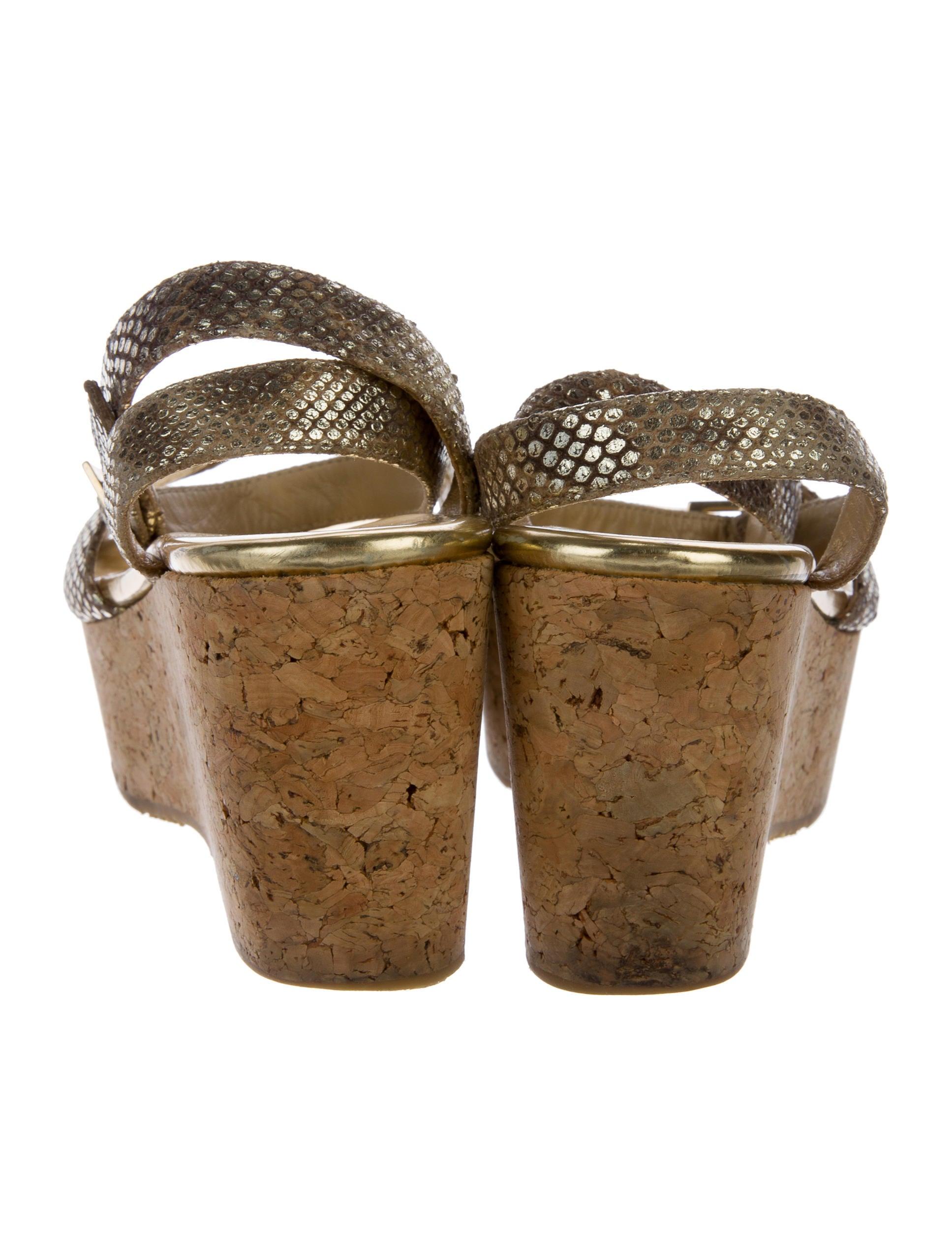 jimmy choo metallic wedge sandals shoes jim70387 the
