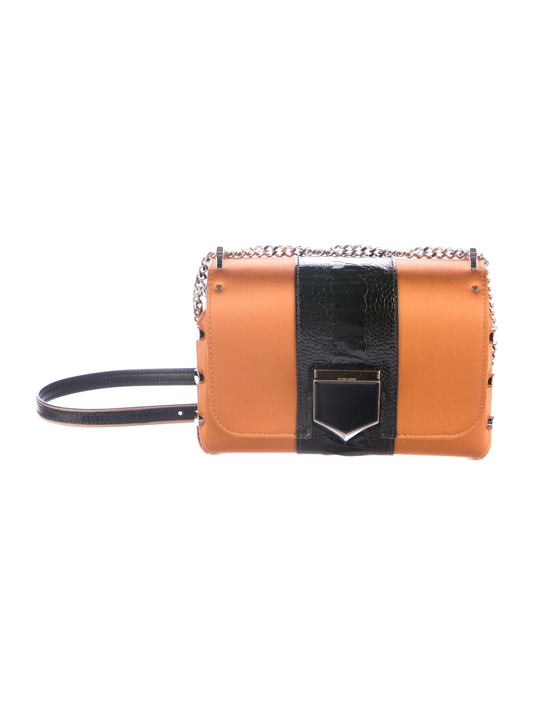 60b3f15a2e Jimmy Choo Satin & Ostrich Leg Petite Lockett Bag - Handbags ...