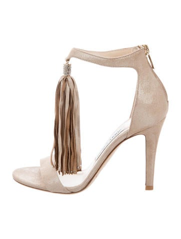 Jimmy Choo Viola Tassel Embellished Sandals None