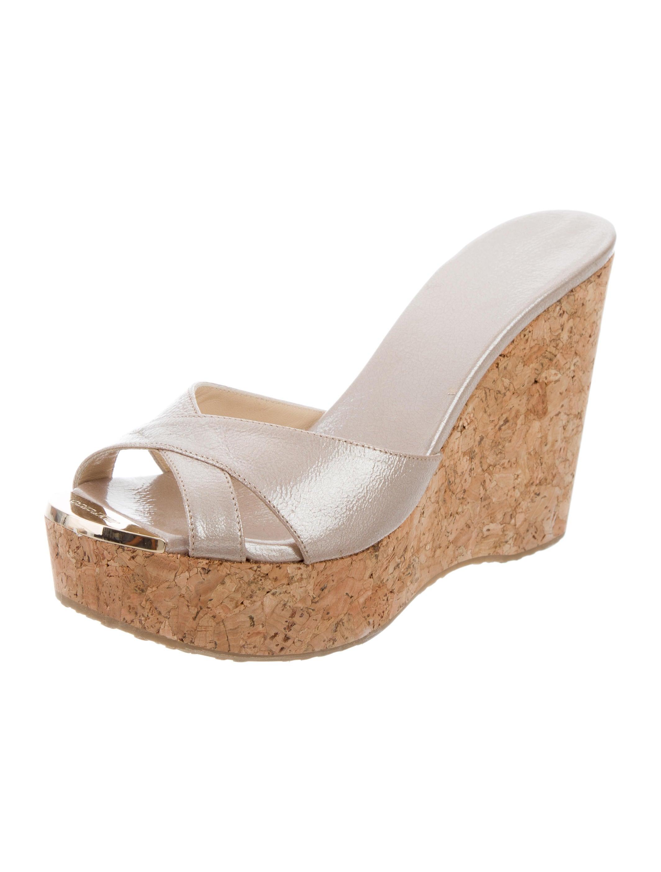 jimmy choo metallic platform wedges shoes jim70816