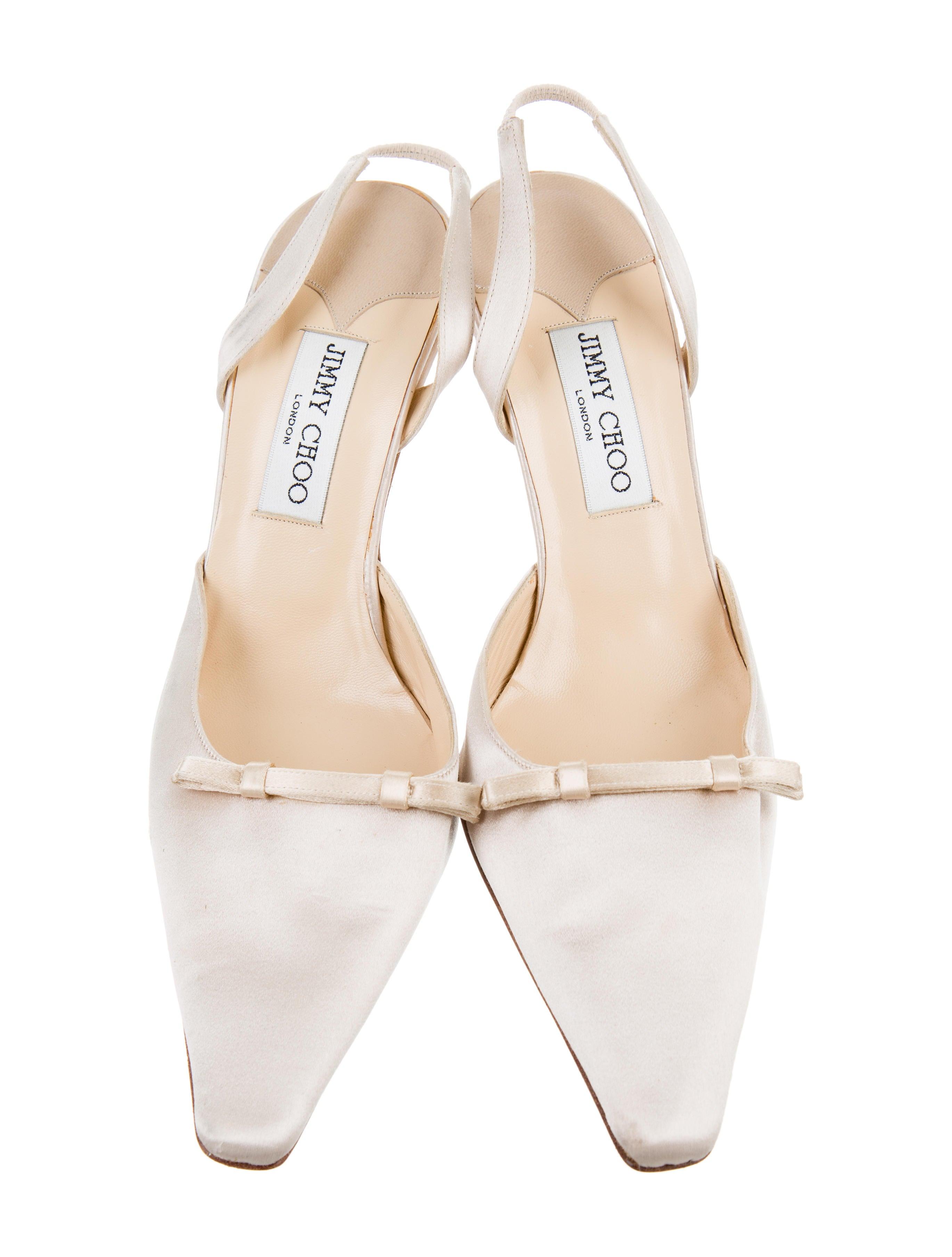 jimmy choo satin slingback pumps shoes jim70858 the. Black Bedroom Furniture Sets. Home Design Ideas