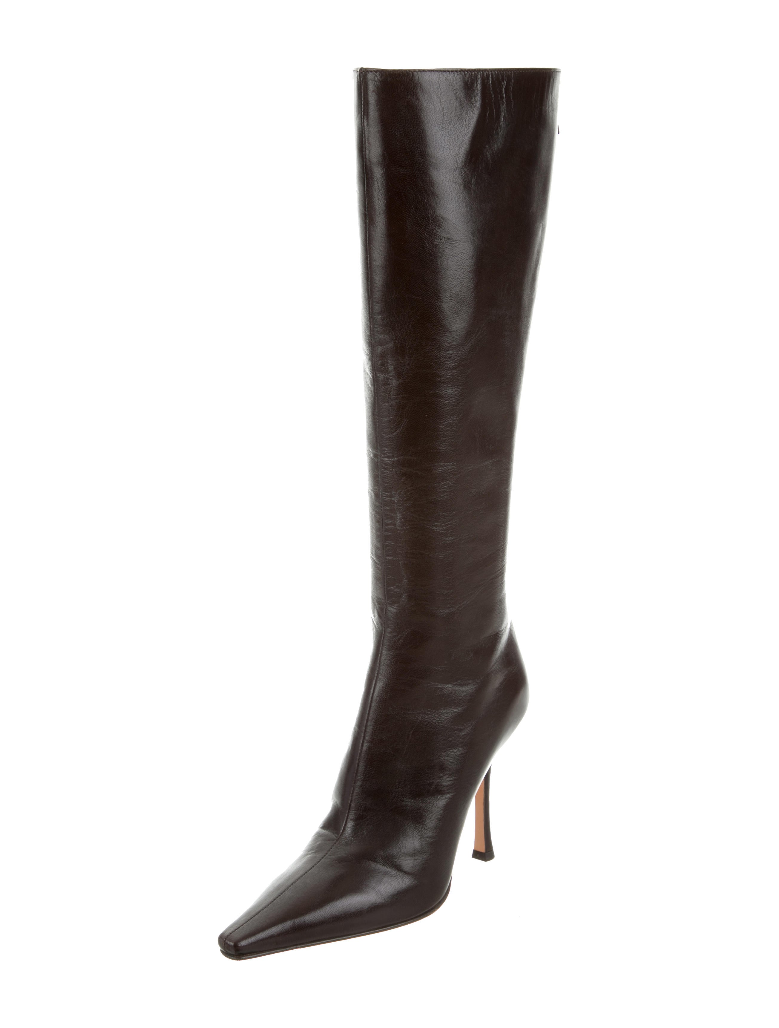 jimmy choo pointed toe knee high boots shoes jim71578