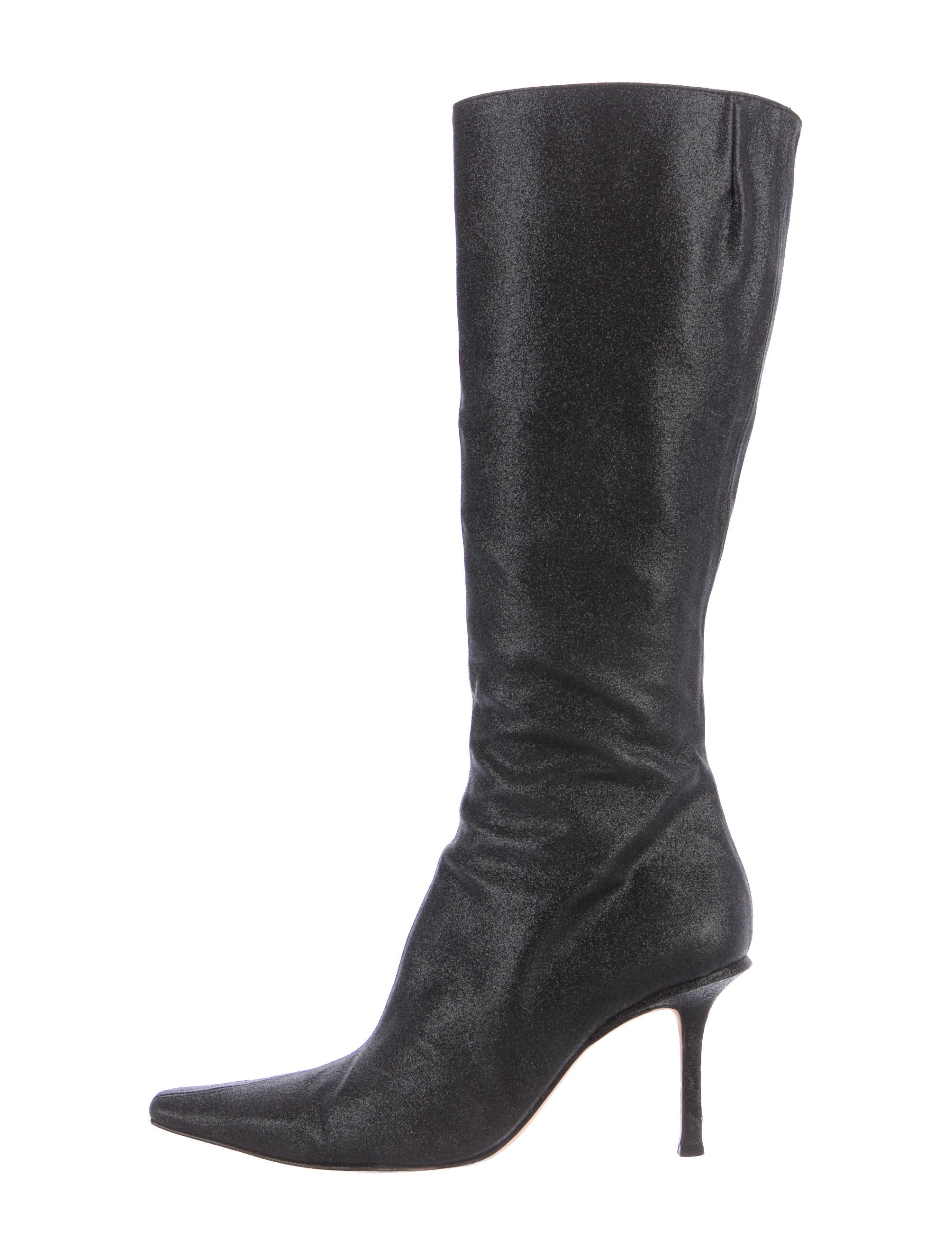jimmy choo glitter knee high boots shoes jim71960