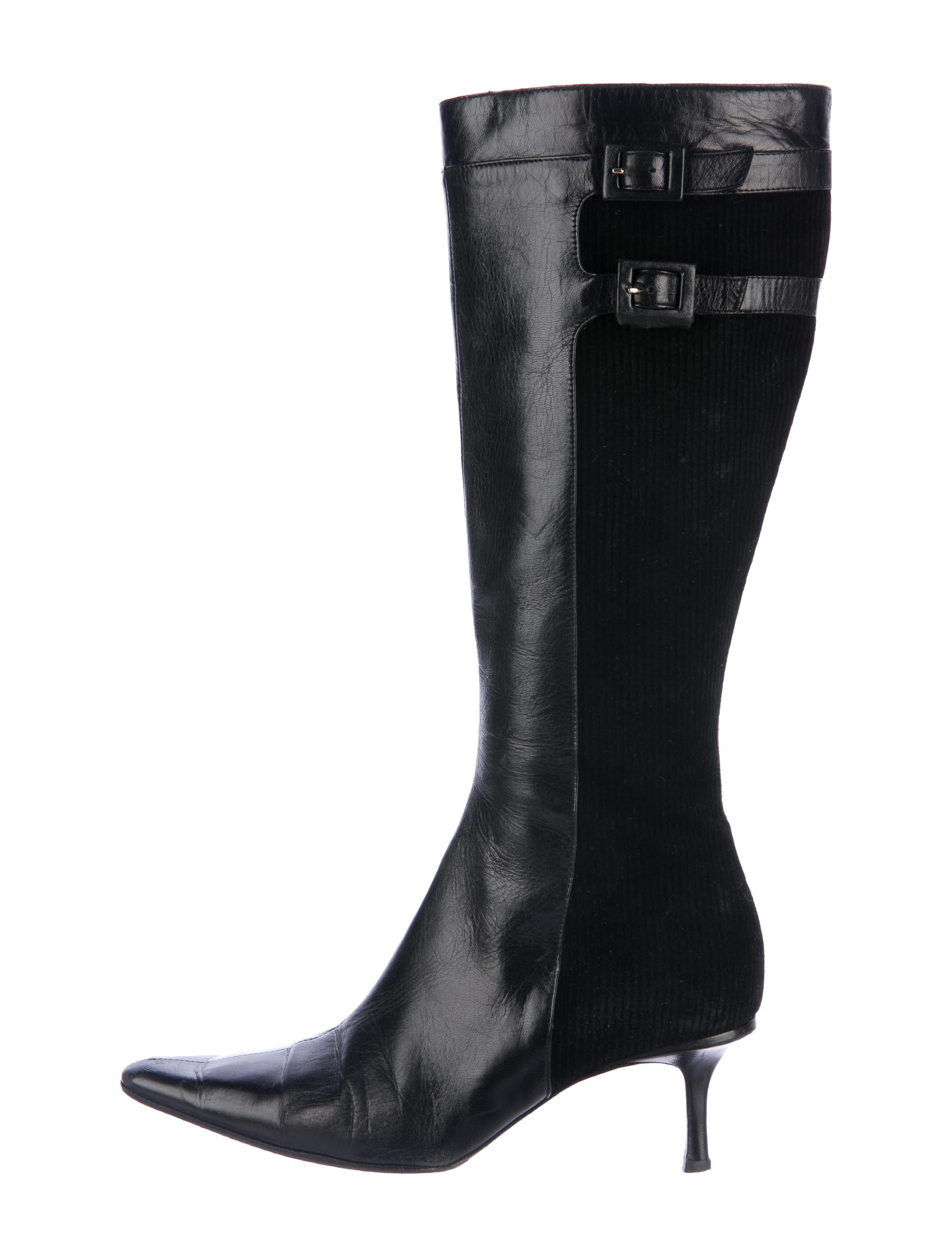 jimmy choo pointed toe knee high boots shoes jim72472