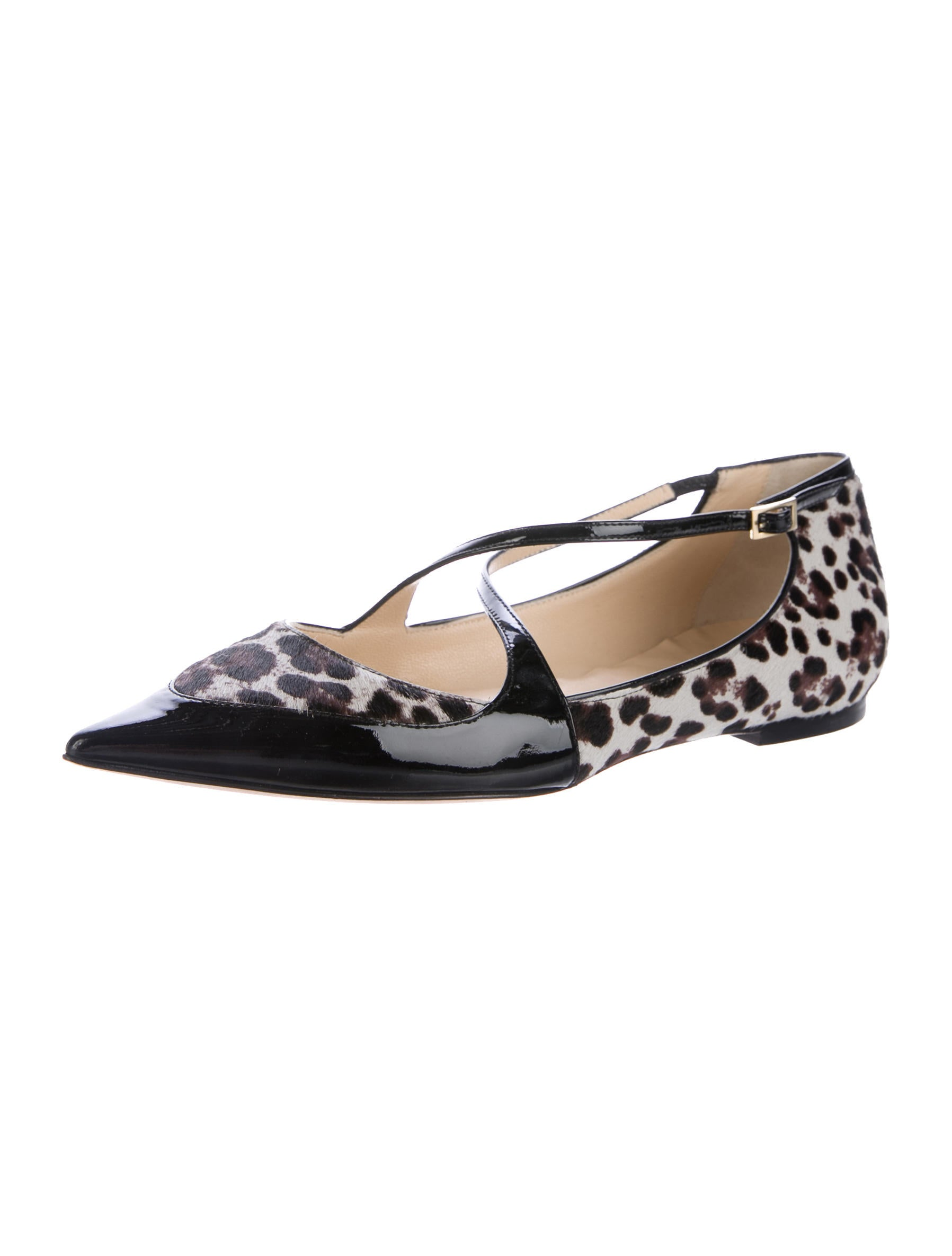buy cheap store on hot sale Jimmy Choo Ponyhair Pointed-Toe Flats iEf7wV