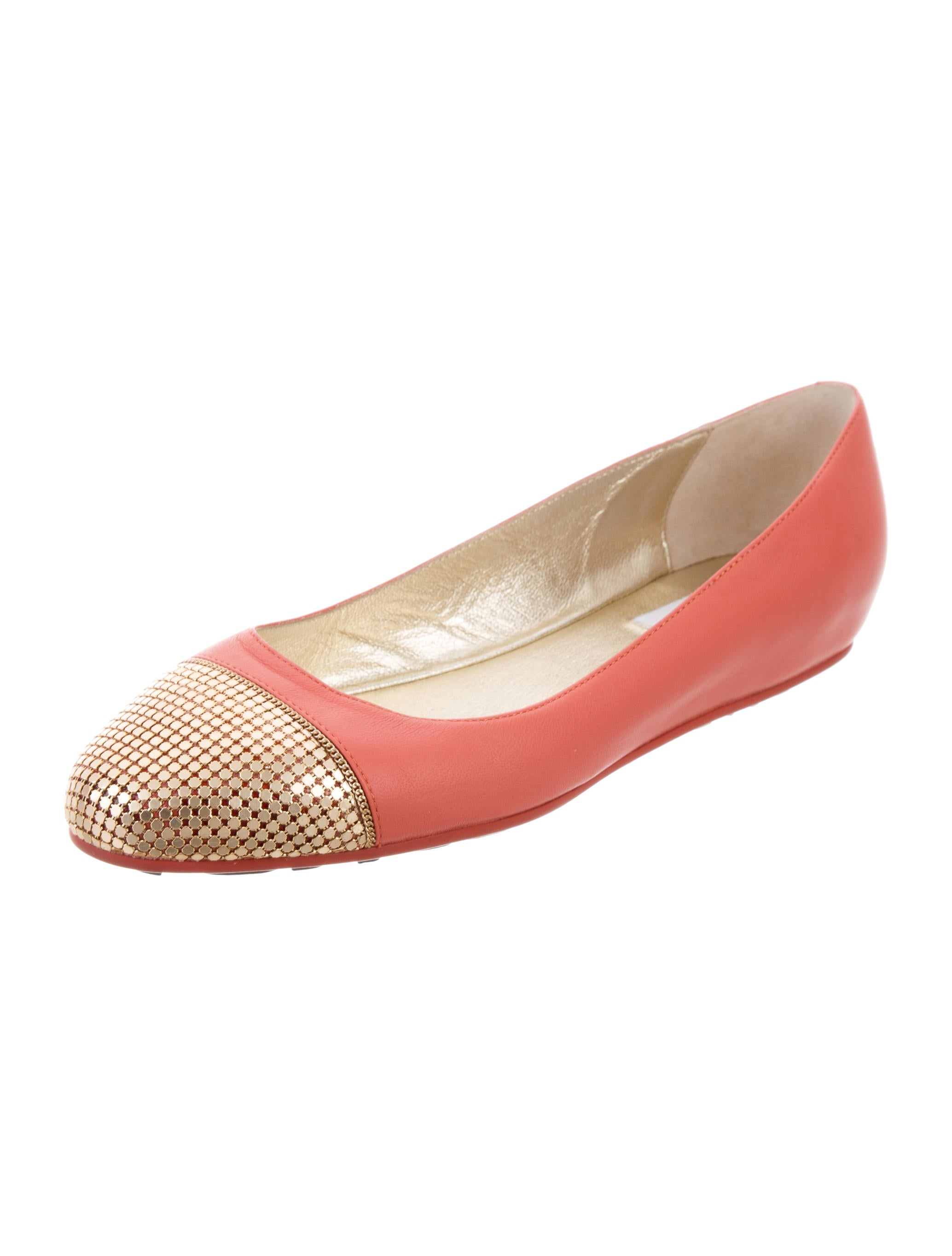 jimmy choo leather ballet flats shoes jim73038 the