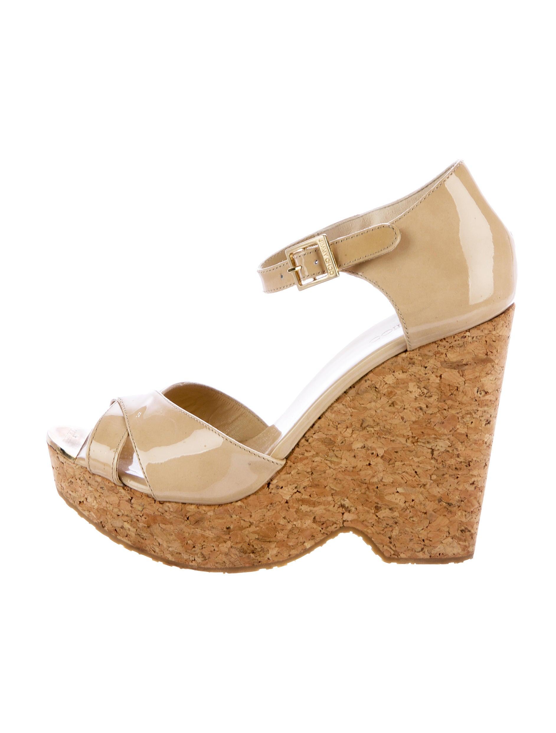 jimmy choo platform patent leather sandals shoes