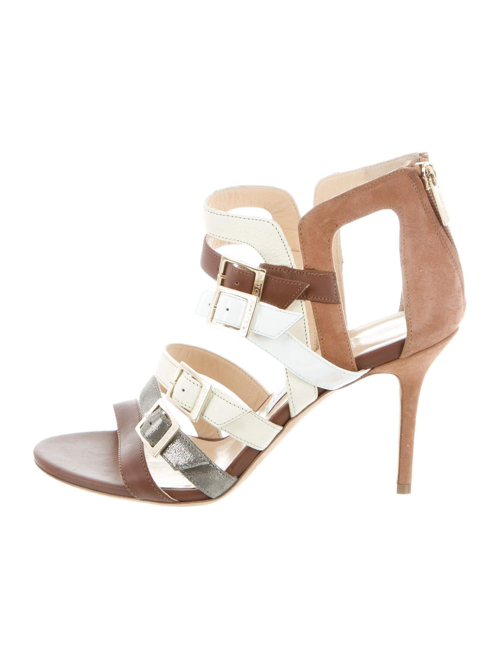 Jimmy Choo Leather Multistrap Sandals 2015 new cheap price best place for sale discount under $60 best prices sale online 34dDczSgh9
