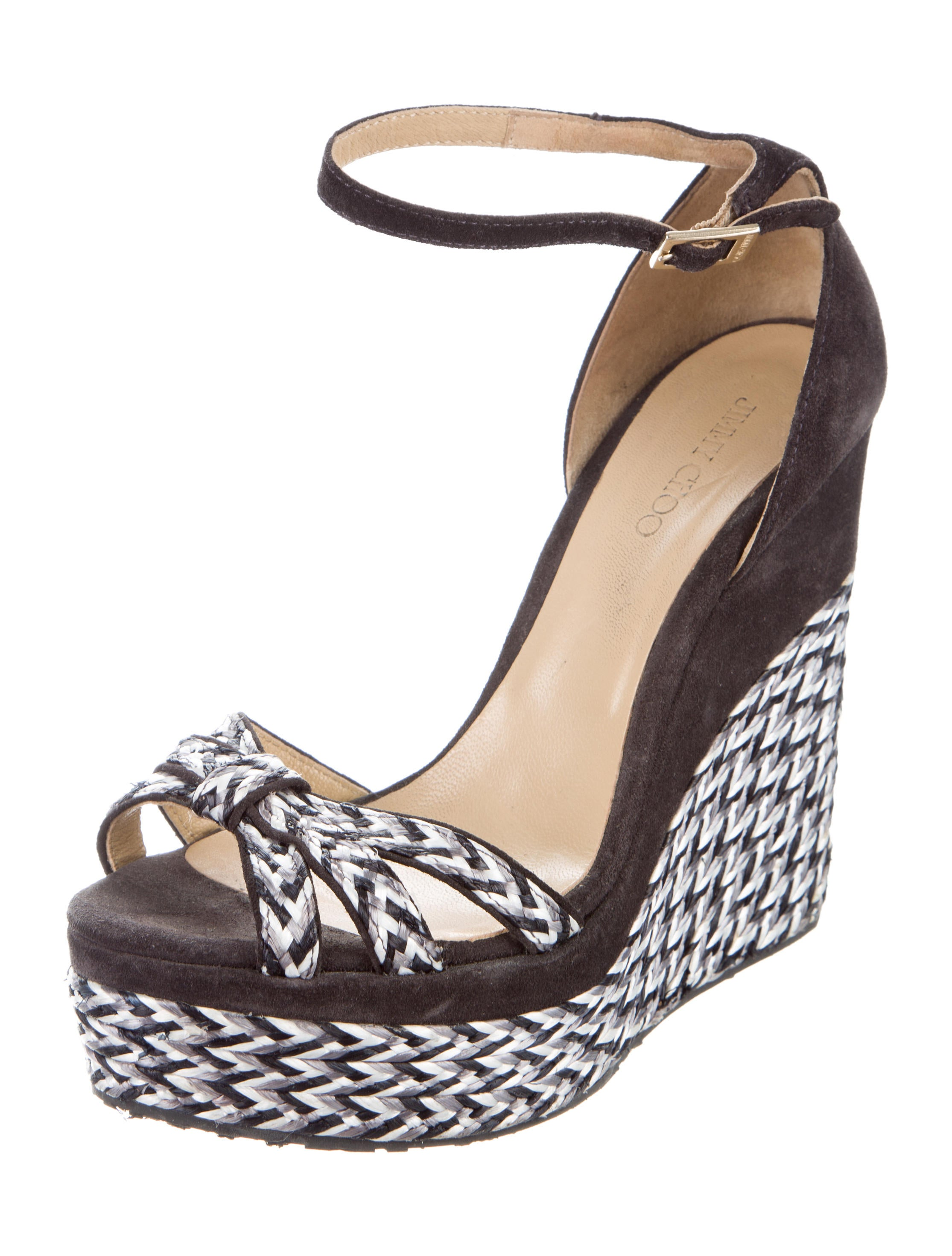 Jimmy Choo Ankle Strap Wedge Sandals - Shoes - JIM73304 ...
