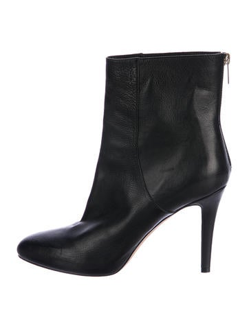 Jimmy Choo Leather Pointed-Toe Ankle Boots None