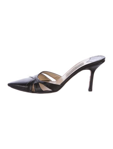 Jimmy Choo Pointed-Toe Leather Mules None