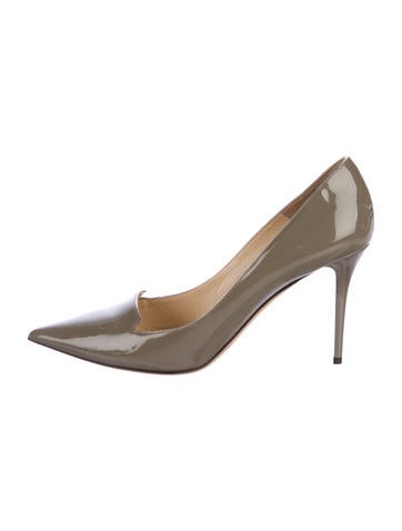Jimmy Choo Pointed-Toe Patent Leather Pumps None
