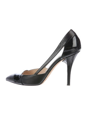 Jimmy Choo Pointed-Toe Cutout Pumps None