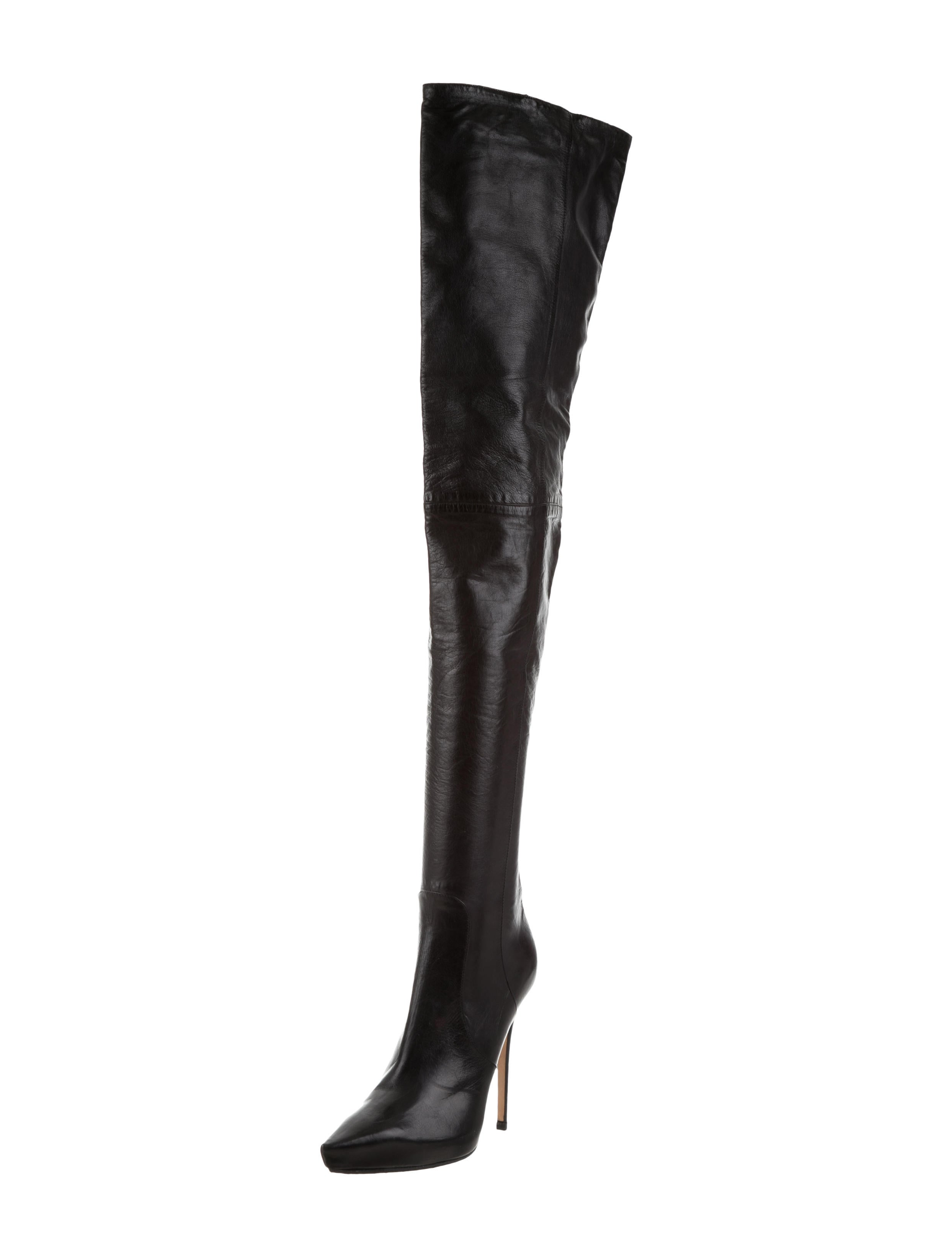 aed48783a6f Jimmy Choo Leather Thigh-High Boots - Shoes - JIM75422