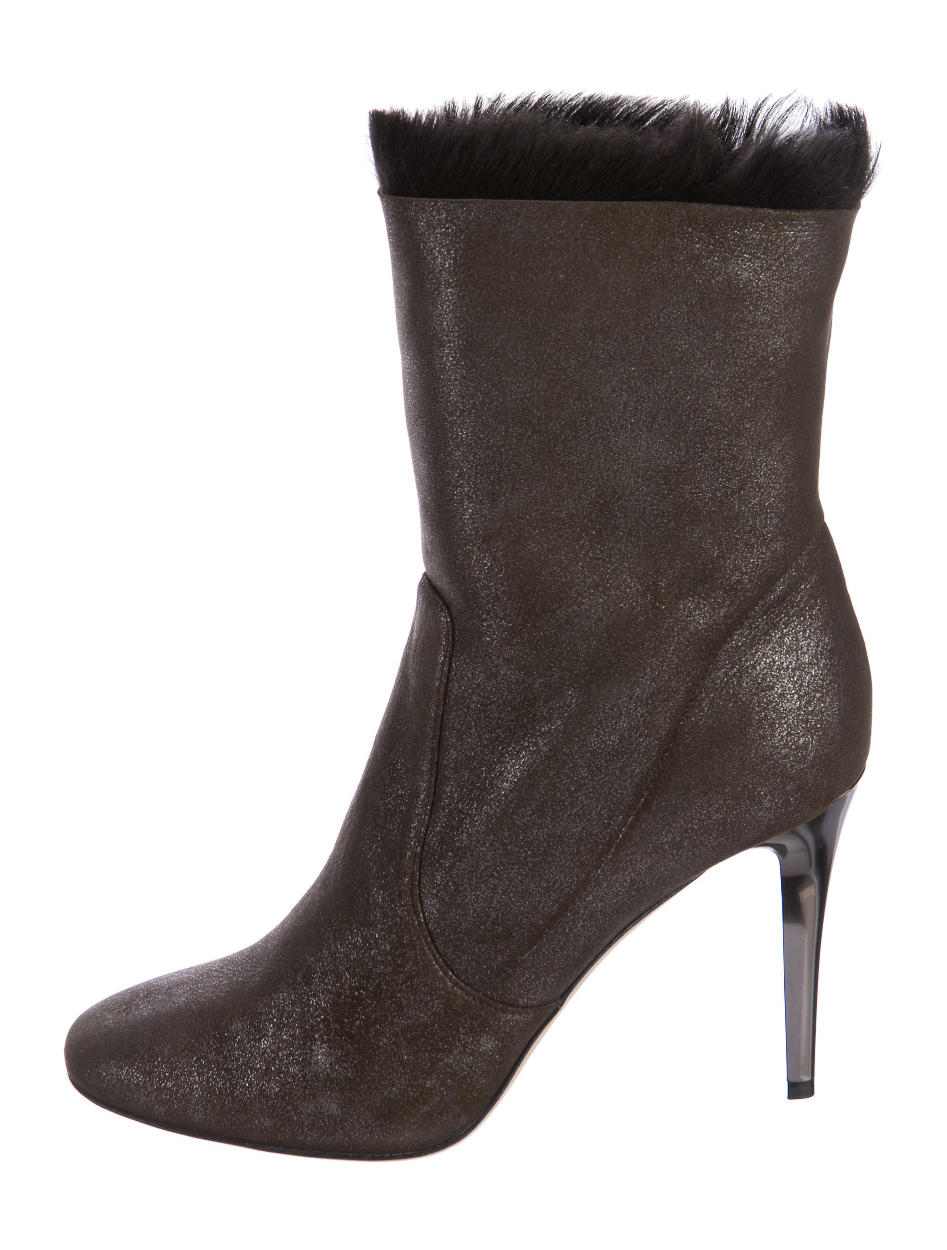Jimmy Choo Metallic Shearling Ankle Boots outlet wiki sTylB1UZ
