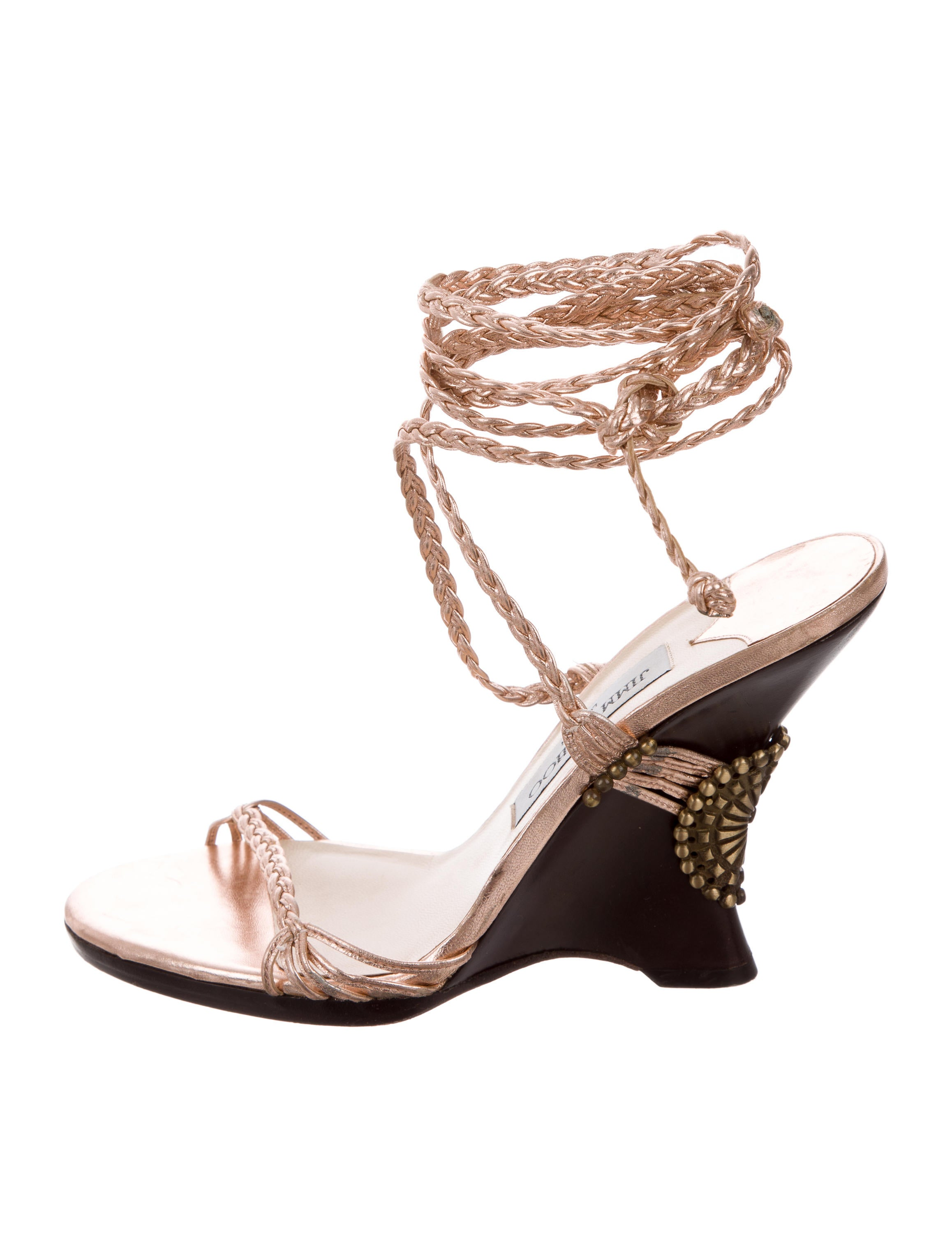 Jimmy Choo Wedge Lace-Up Sandals - Shoes - JIM77770 | The ...