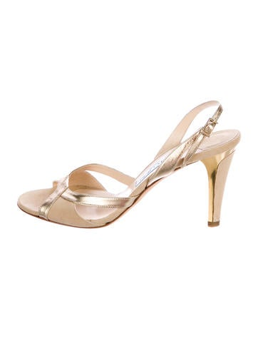 Jimmy Choo Metallic Slingback Sandals None